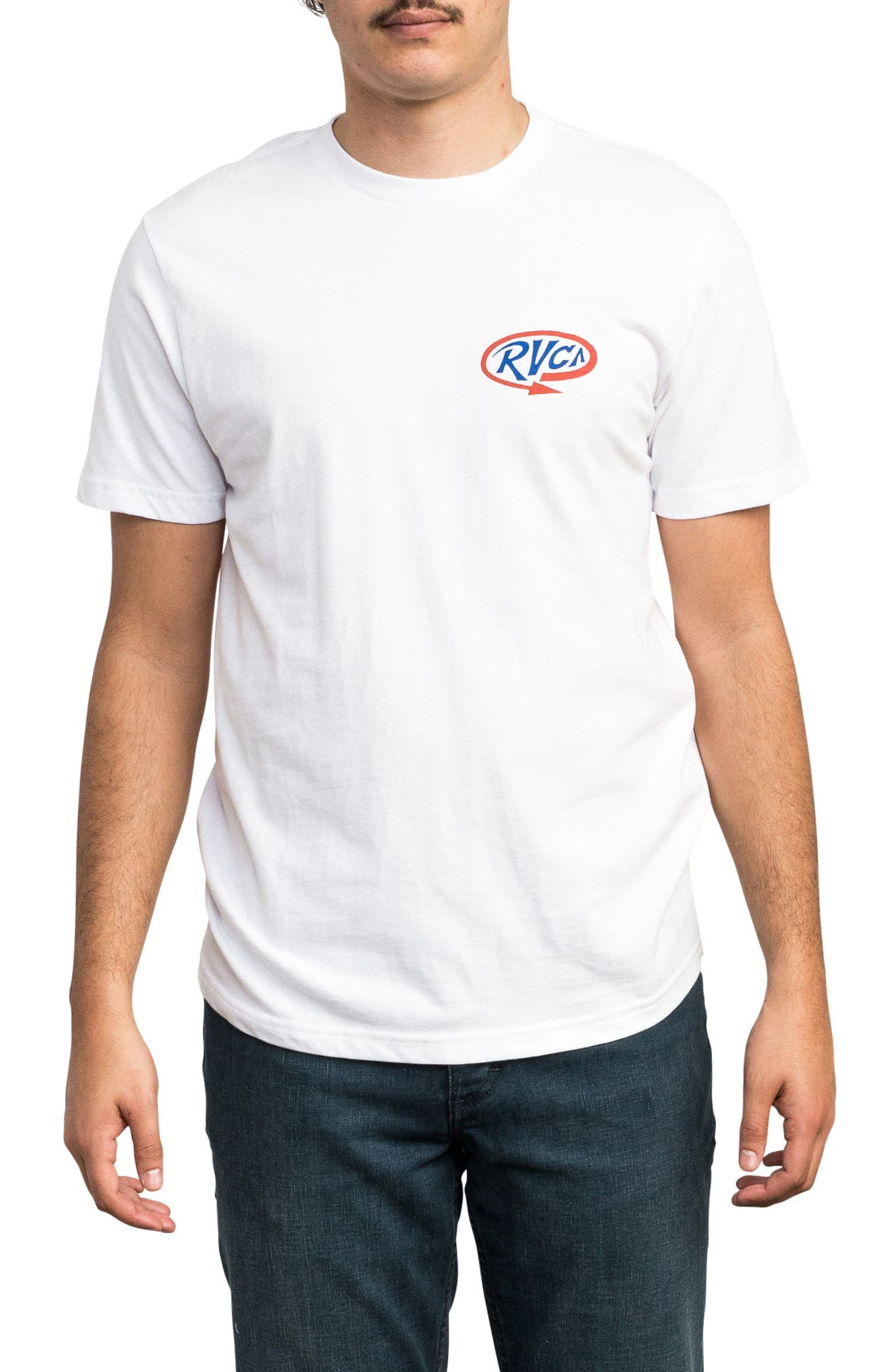 Looped Graphic T-Shirt,                             Main thumbnail 1, color,                             WHITE