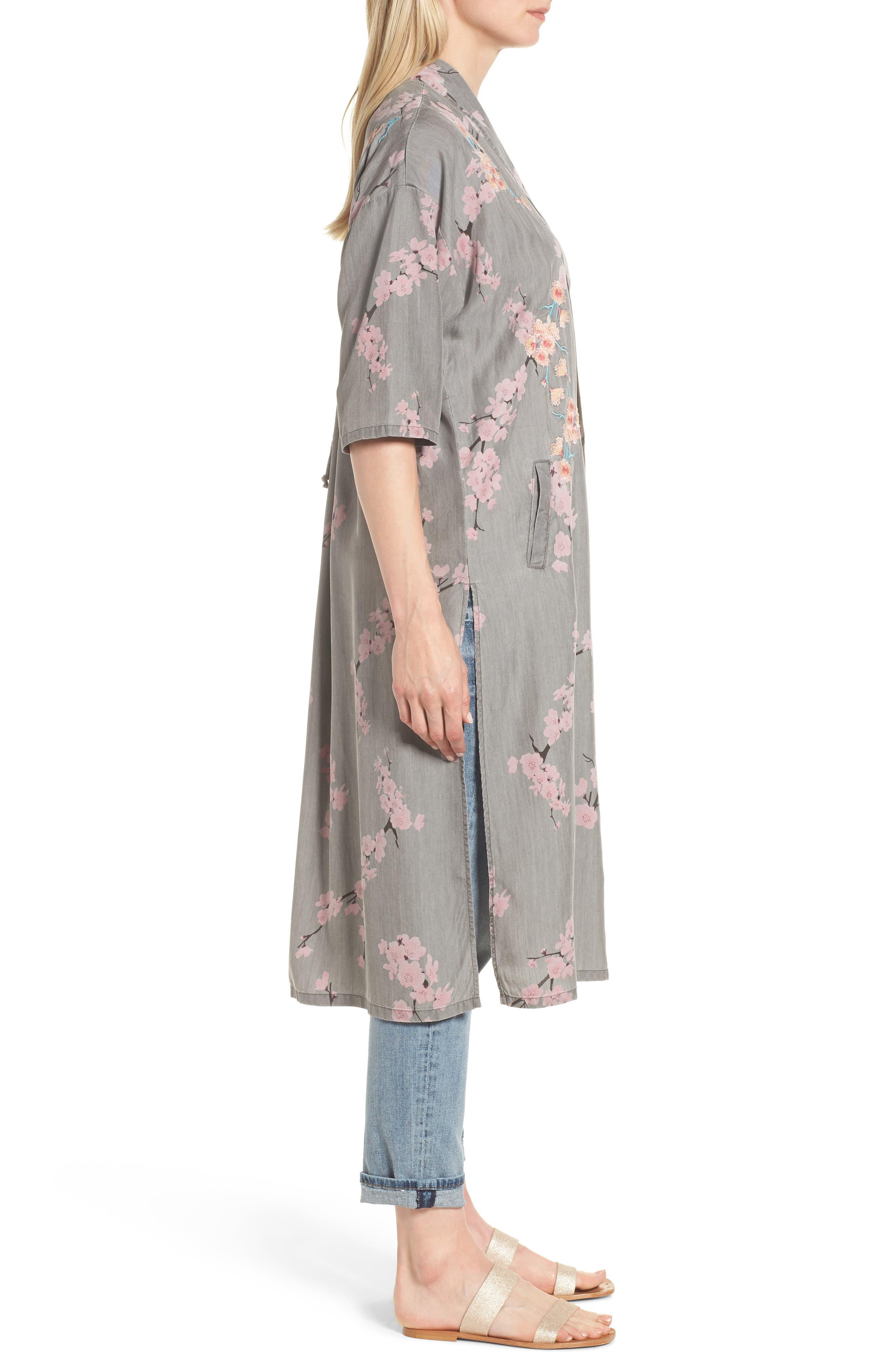 Cherry Blossom Kimono,                             Alternate thumbnail 3, color,                             020