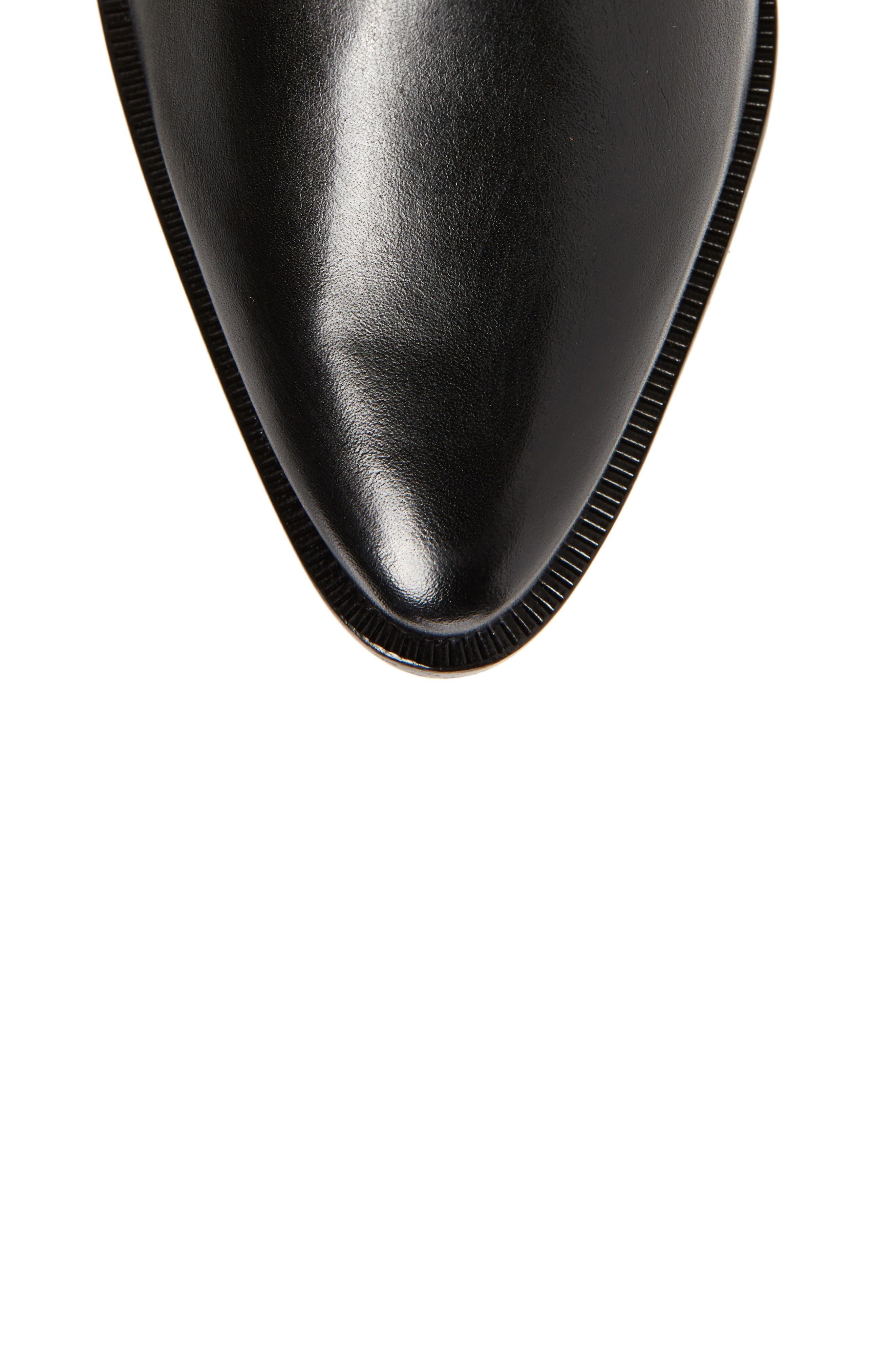 Fantinne Knee High Boot,                             Alternate thumbnail 5, color,                             BLACK LEATHER