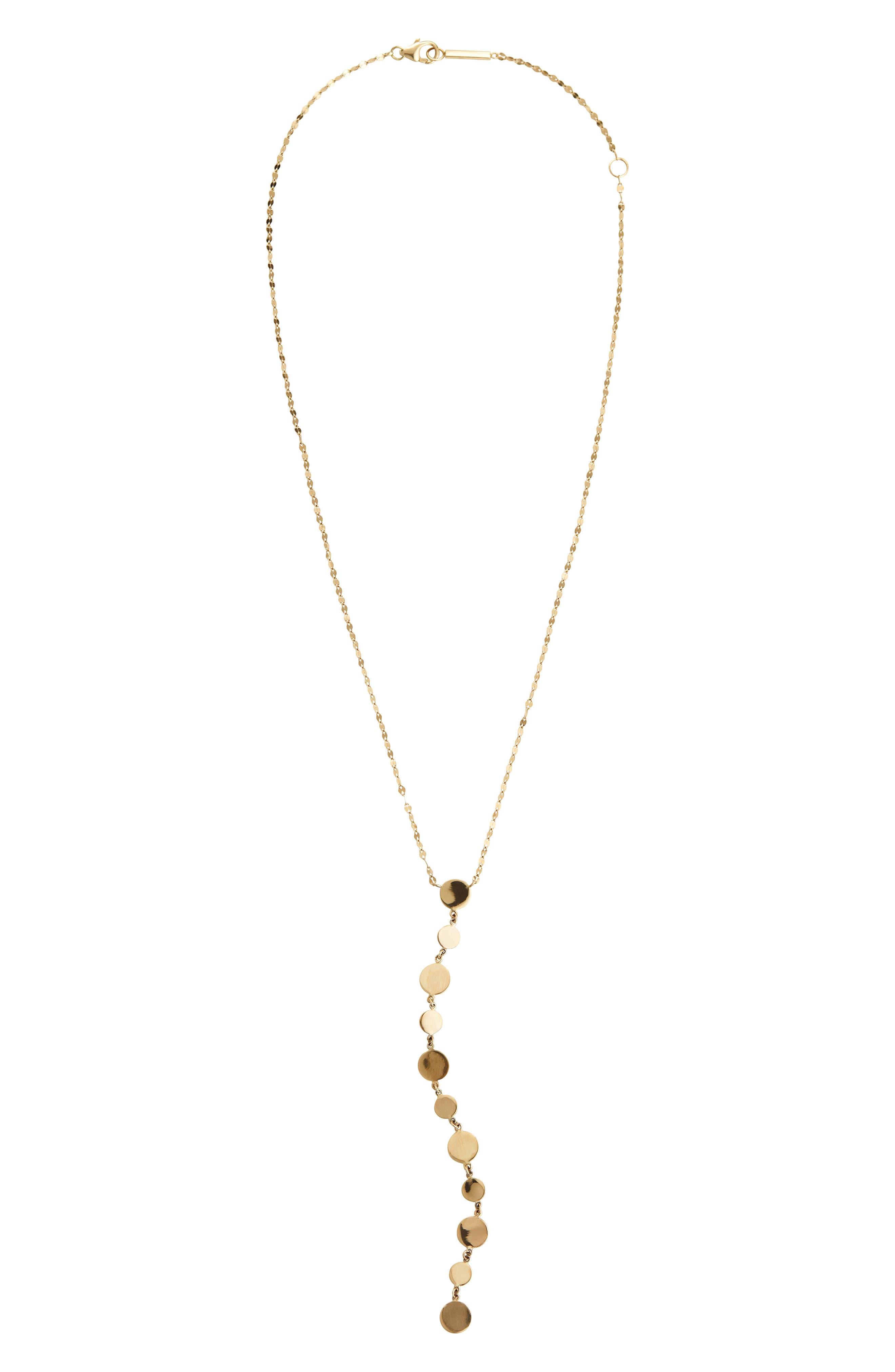 LANA Legacy 14K Gold Disc Y-Drop Necklace