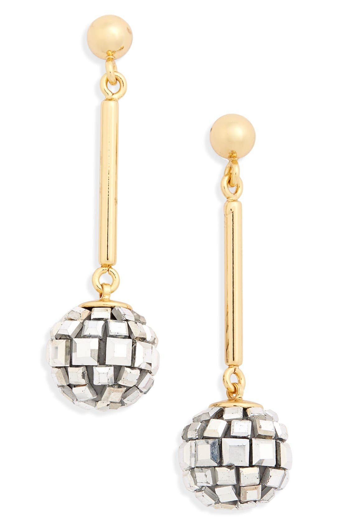 disco ball drop earrings, Main, color, 040