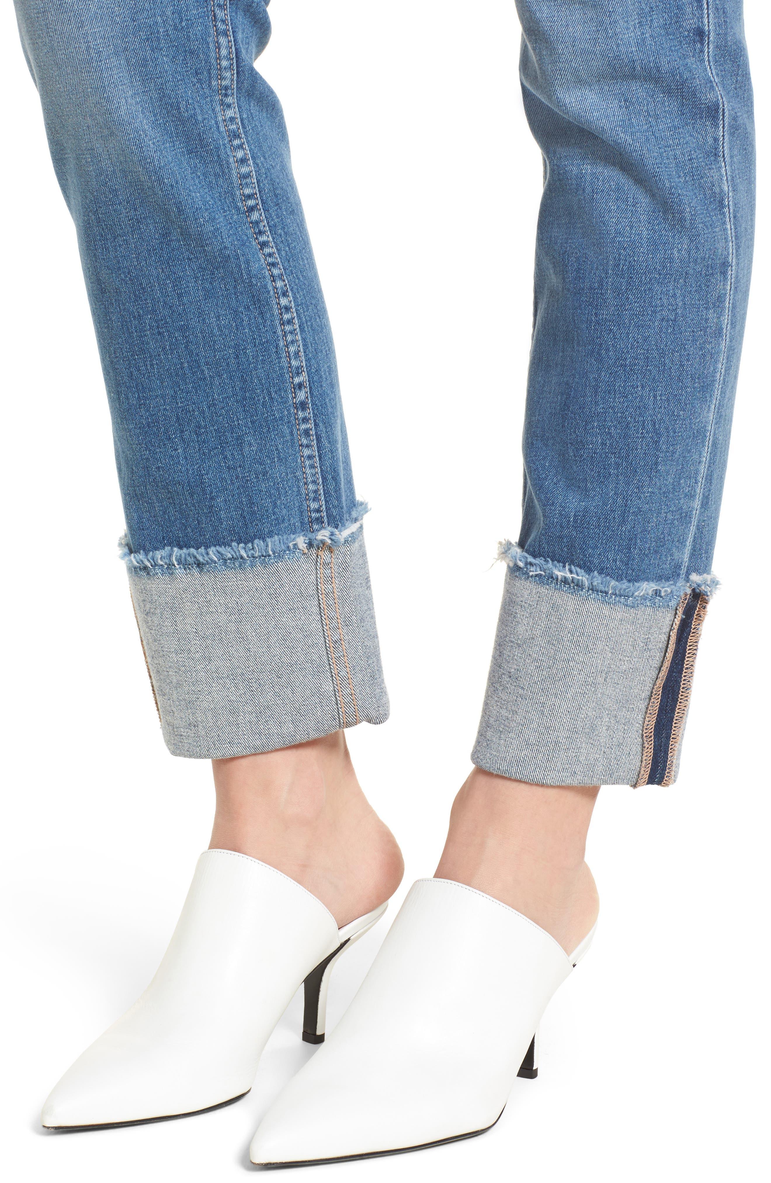 Sarah High Waist Straight Leg Jeans,                             Alternate thumbnail 4, color,                             400