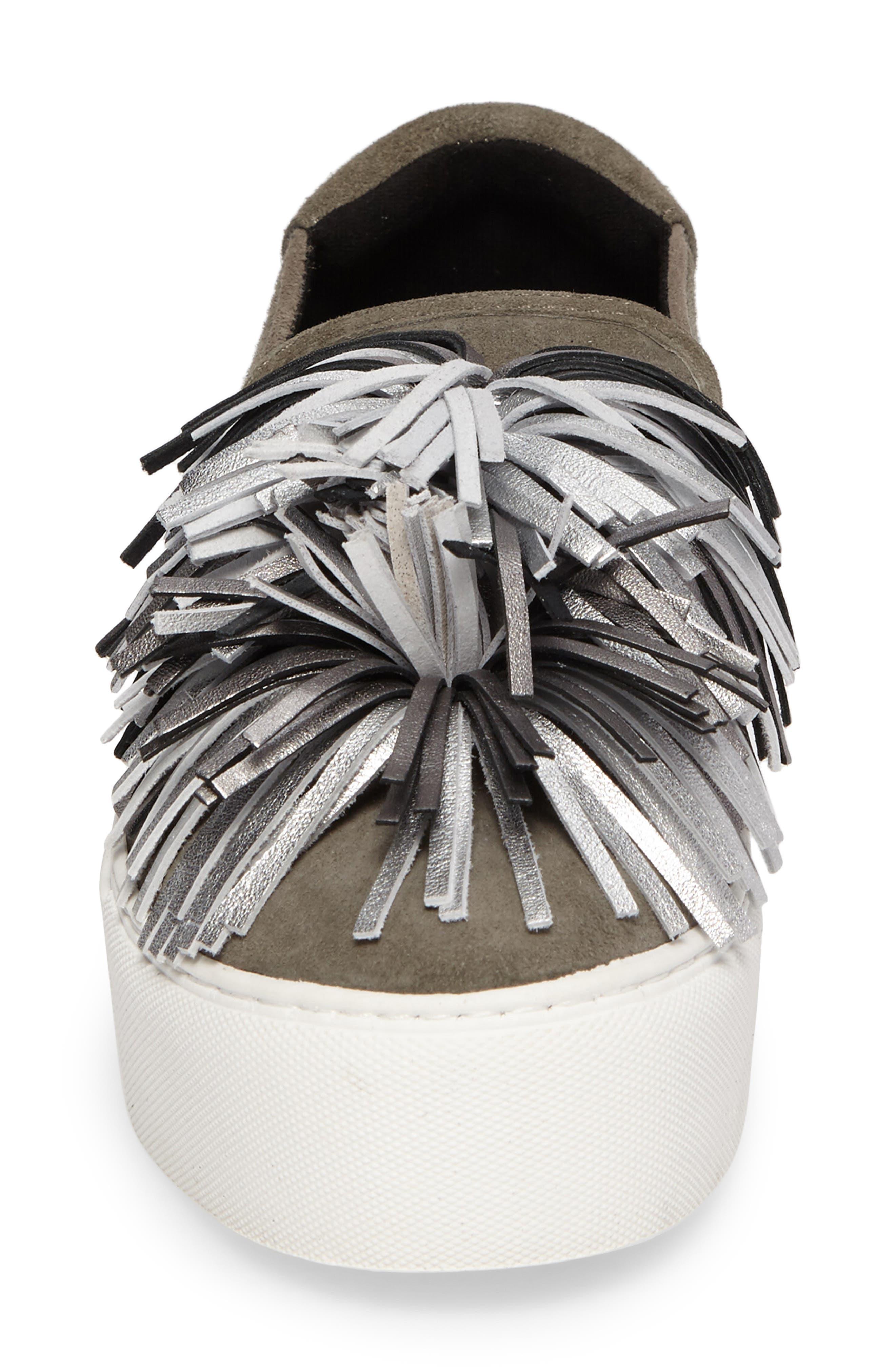 Jayson Pom Platform Sneaker,                             Alternate thumbnail 4, color,                             090