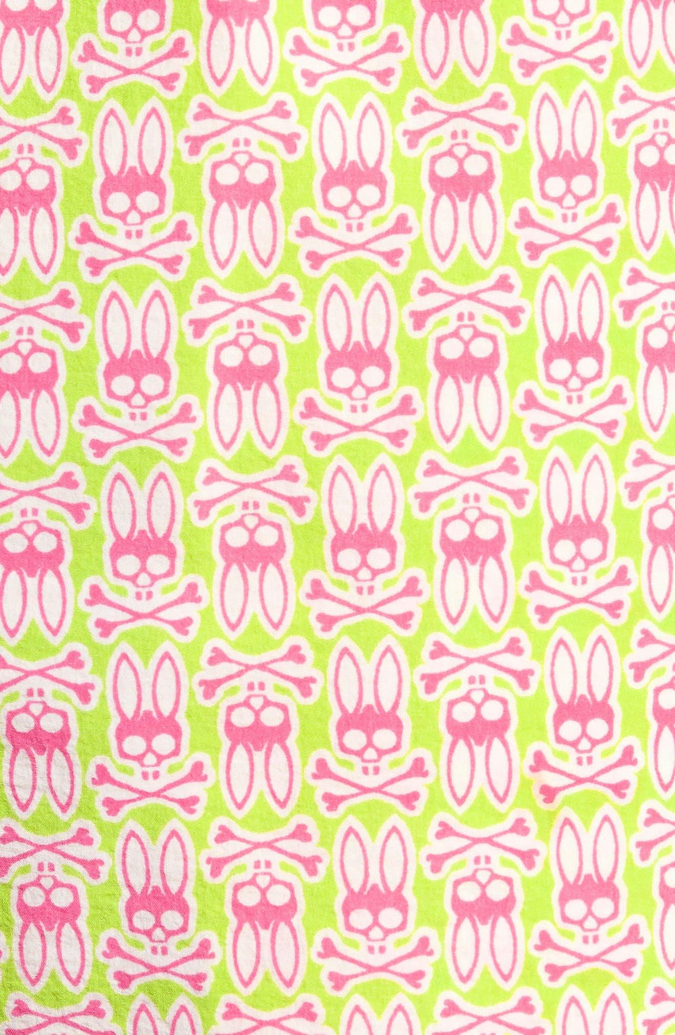 Psycho Bunny Print Swim Trunks,                             Alternate thumbnail 5, color,
