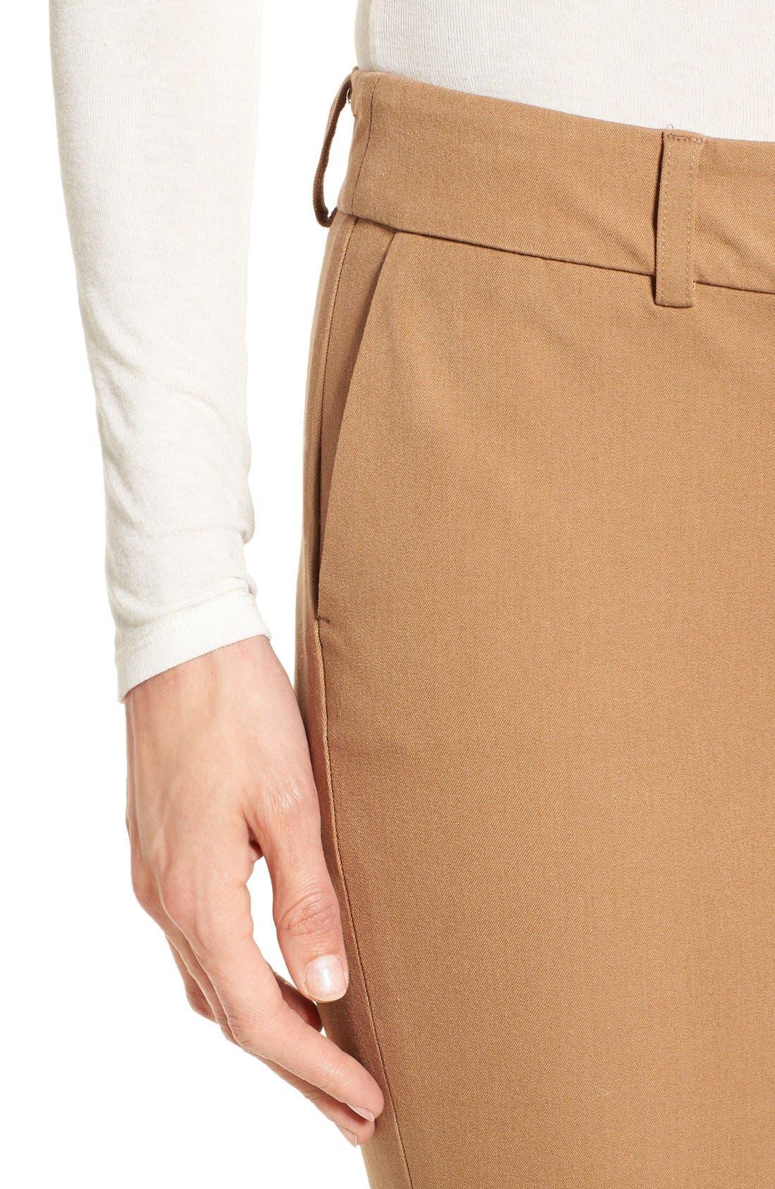Crop Stretch Cotton Pants,                             Alternate thumbnail 74, color,