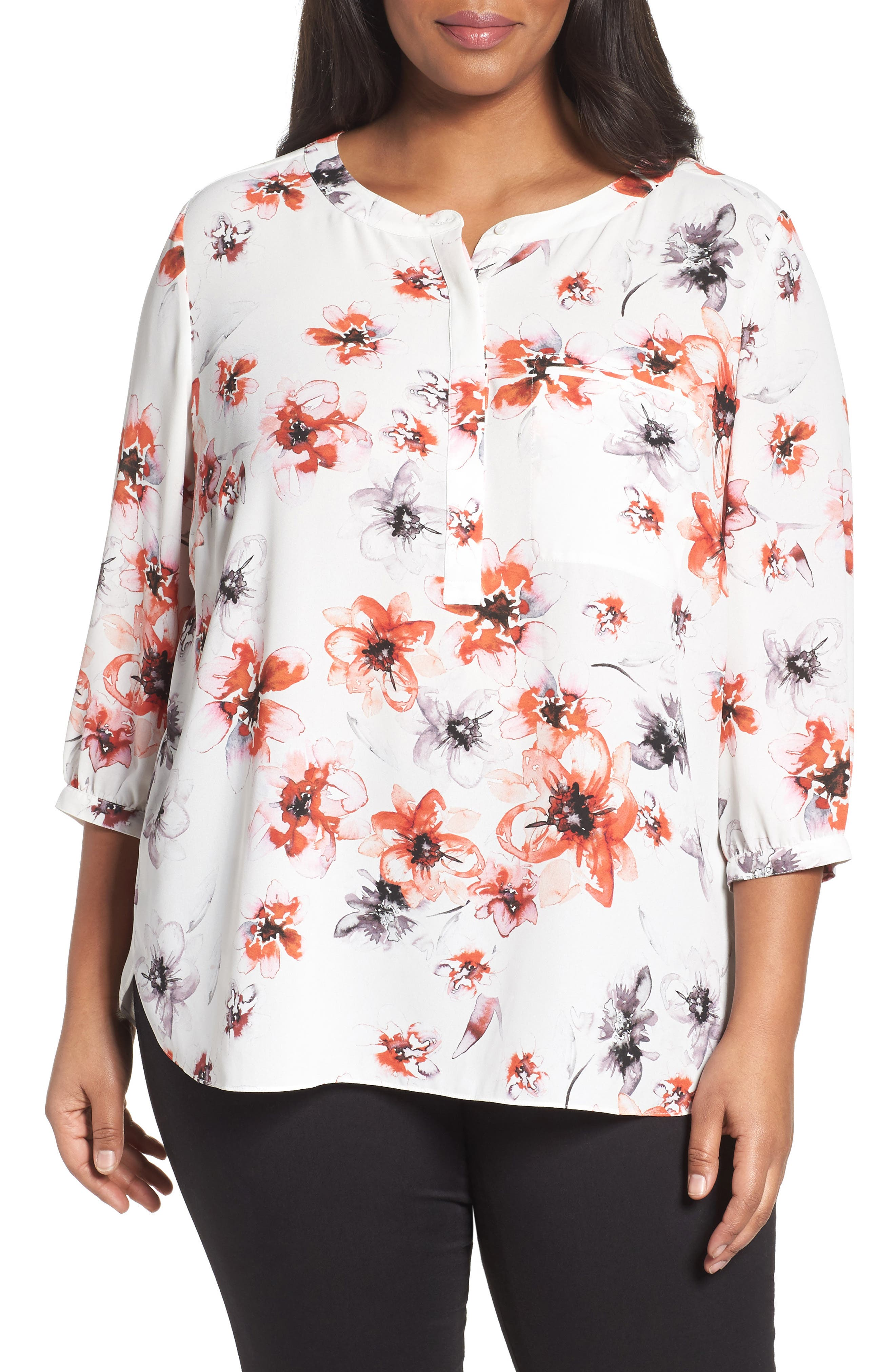 Henley Top,                             Alternate thumbnail 166, color,
