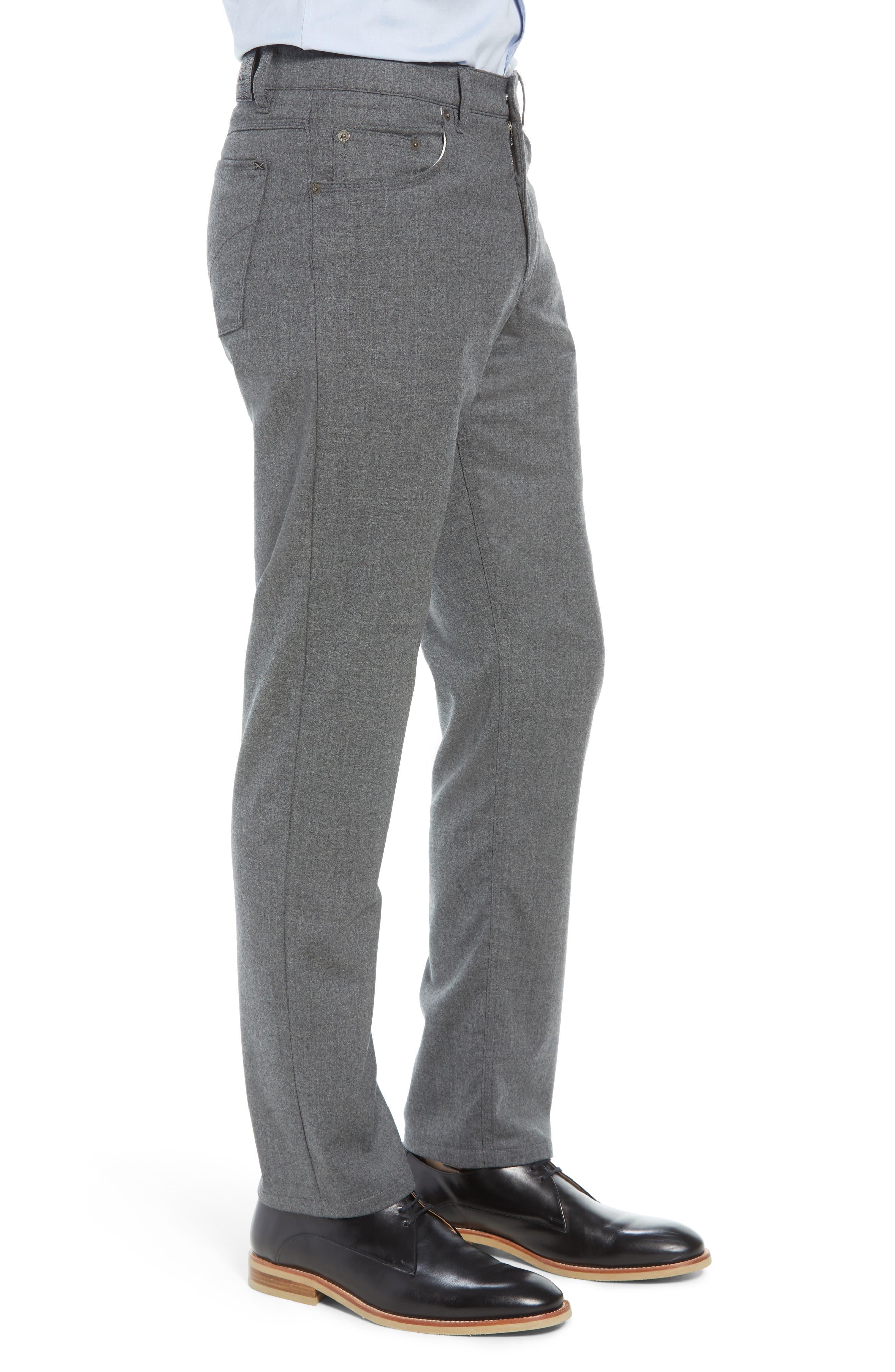 Enrico Five-Pocket Stretch Wool Trousers,                             Alternate thumbnail 3, color,                             GRAPHITE