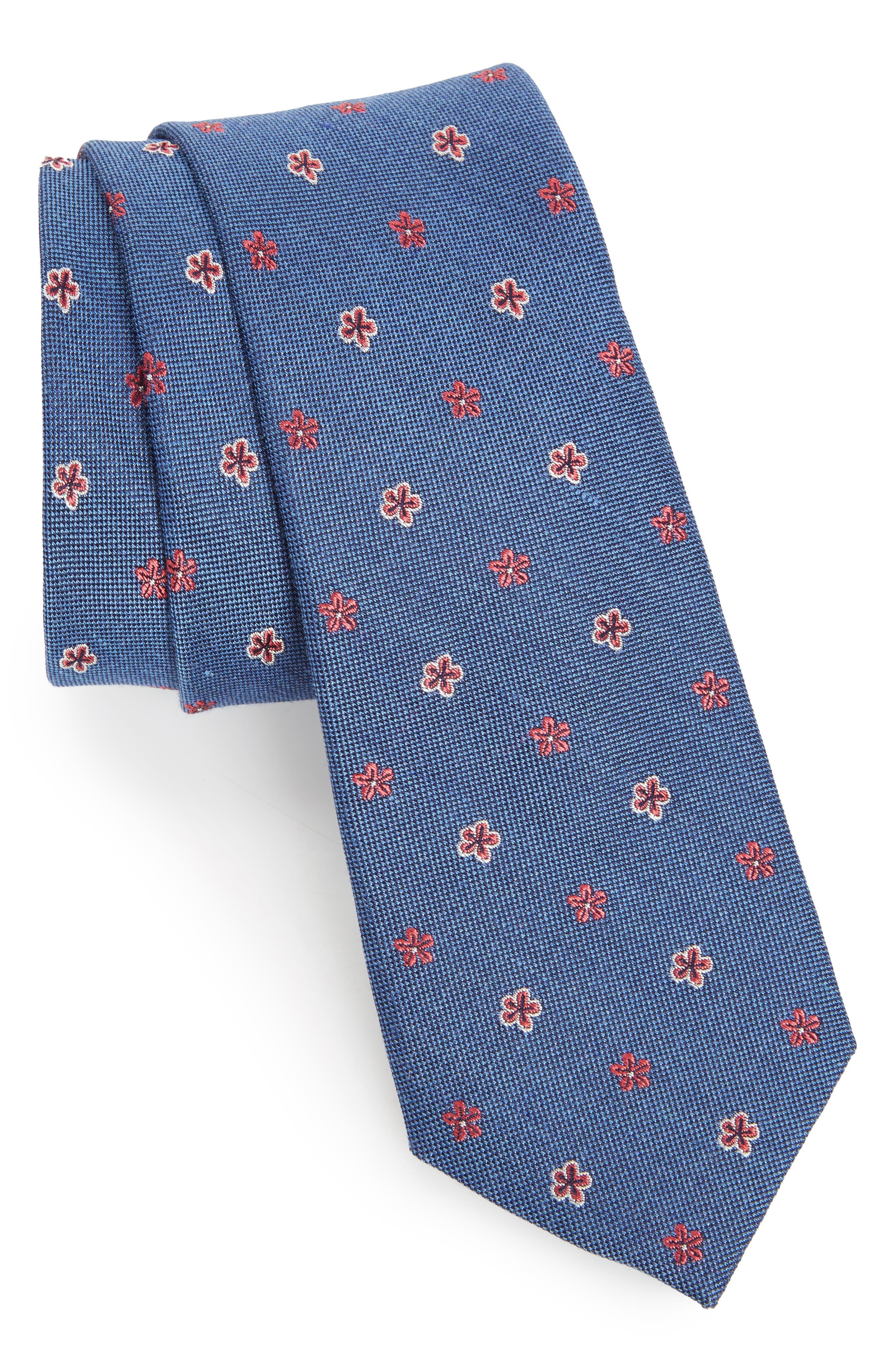 Essex Floral Silk Blend Tie,                             Main thumbnail 1, color,                             400