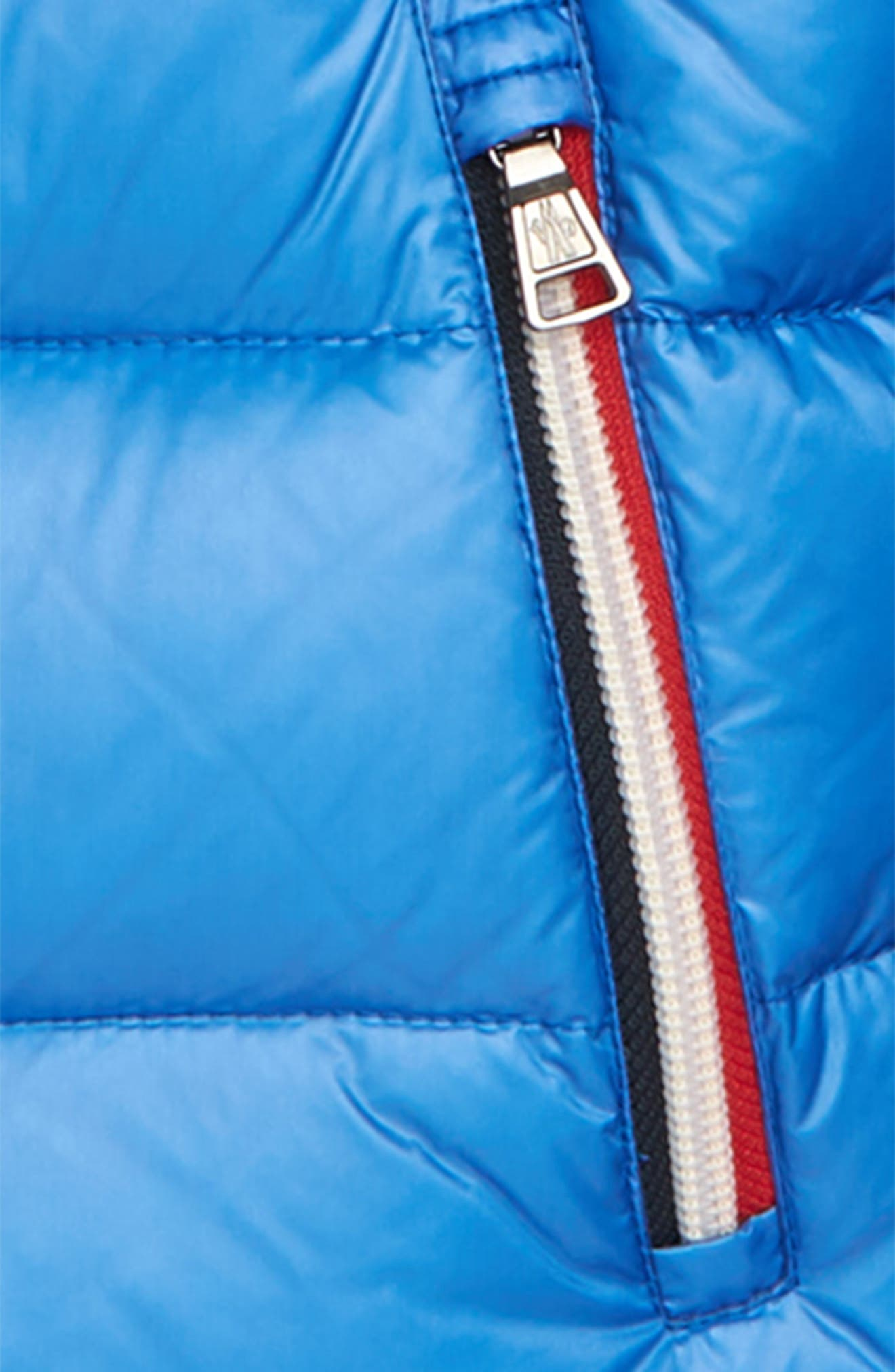 Gastonet Hooded Water Resistant Down Jacket,                             Alternate thumbnail 2, color,                             BRIGHT BLUE