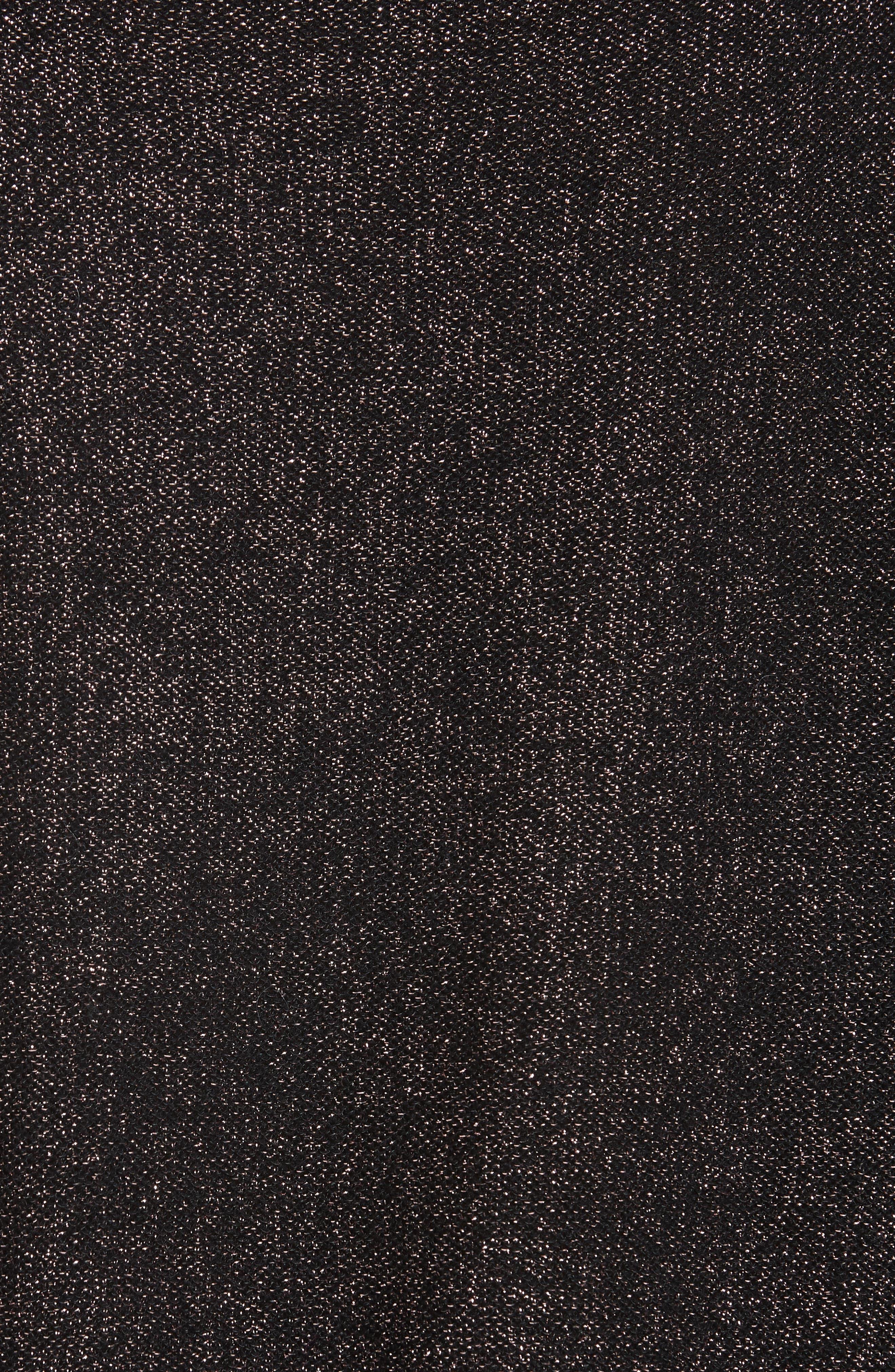 Metallic Shimmer Cotton Blend Sweater,                             Alternate thumbnail 5, color,                             LILAC