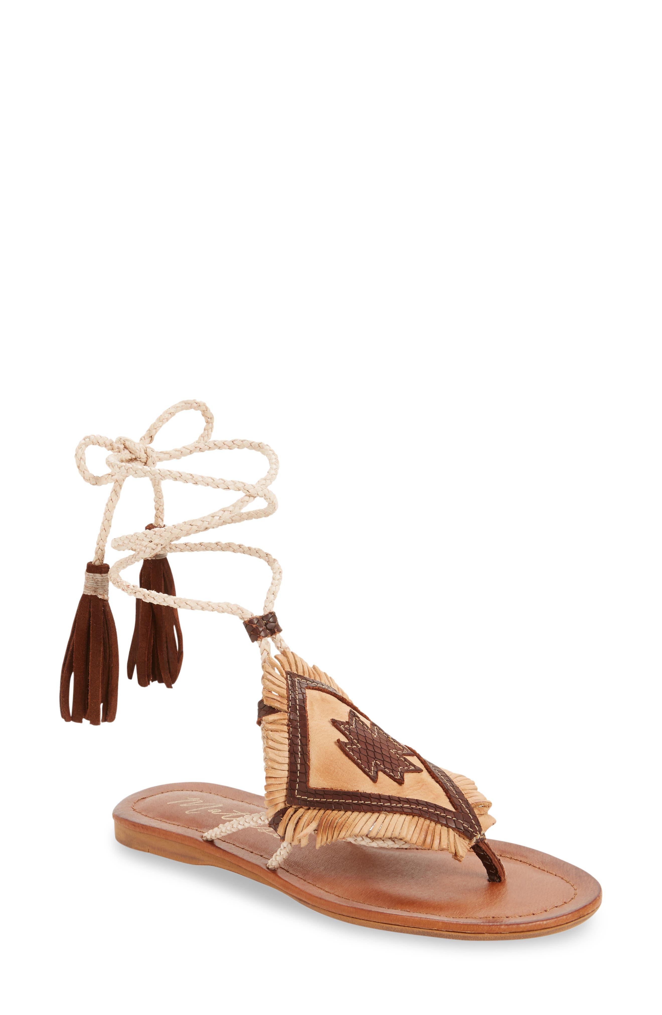 Bronte Tassel Lace-Up Sandal,                         Main,                         color, 250