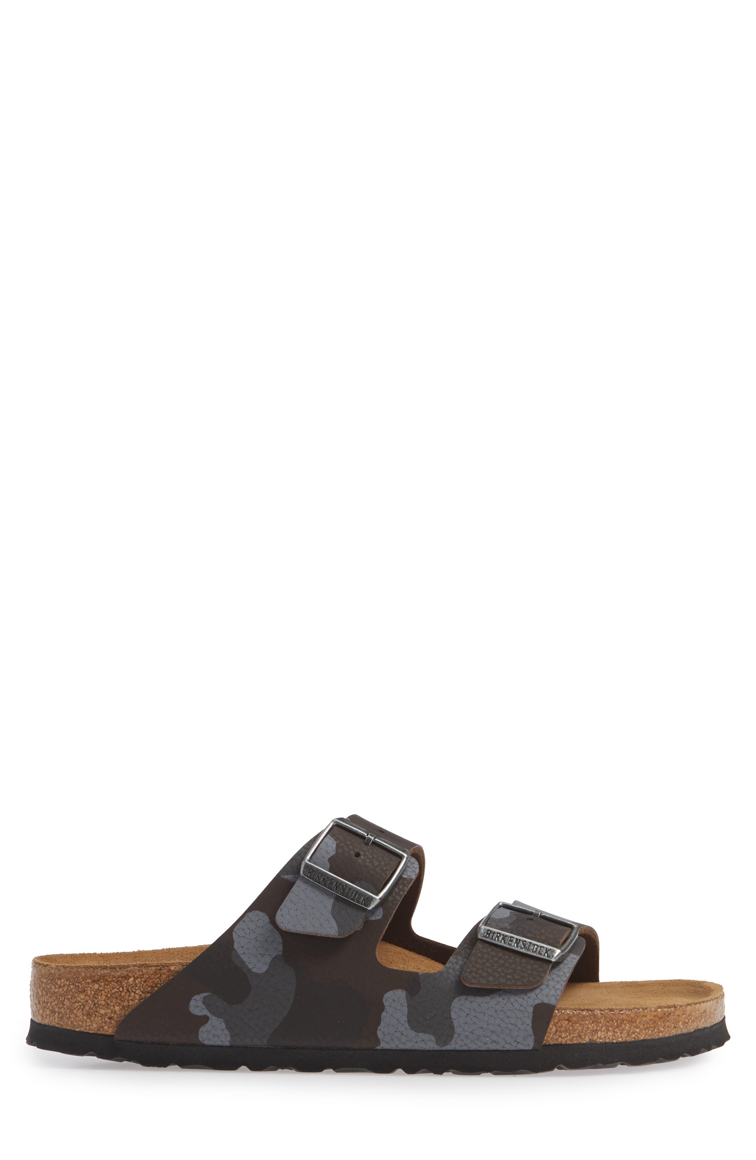 Arizona Soft Slide Sandal,                             Alternate thumbnail 3, color,                             DESERT SOIL CAMO BROWN