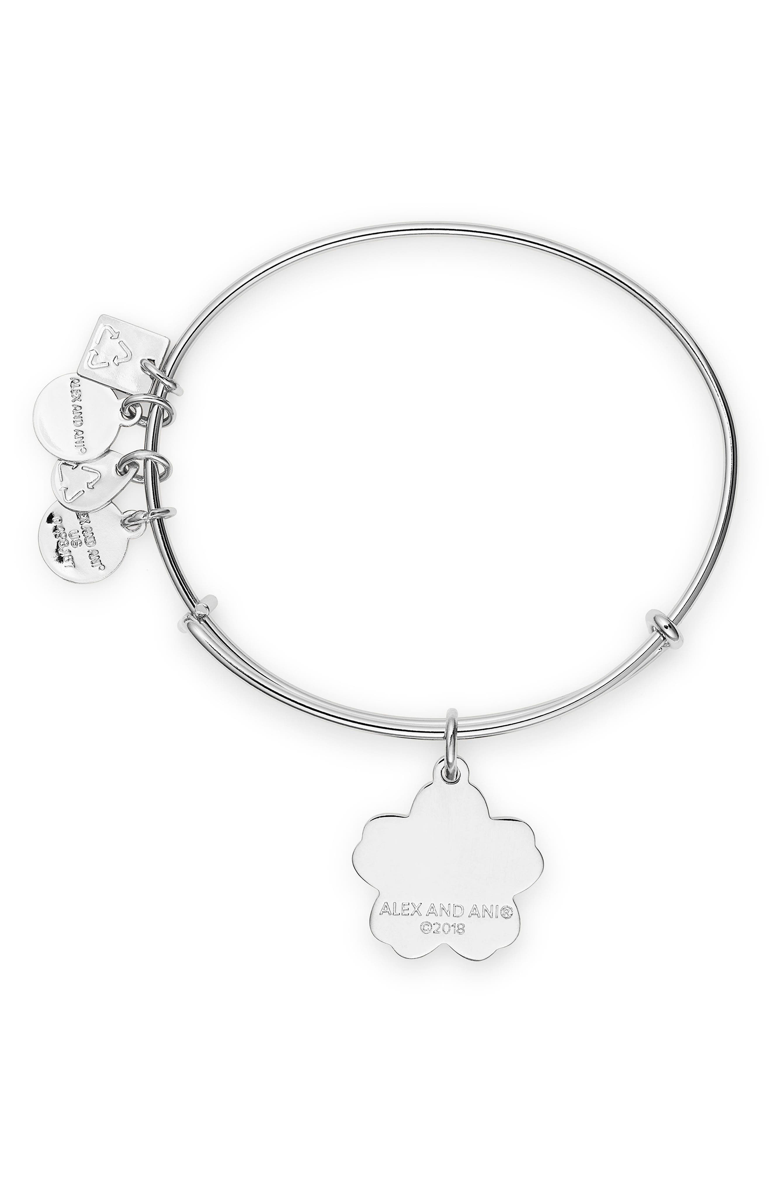 Charity by Design Forget Me Not Charm Bracelet,                             Alternate thumbnail 2, color,                             SILVER