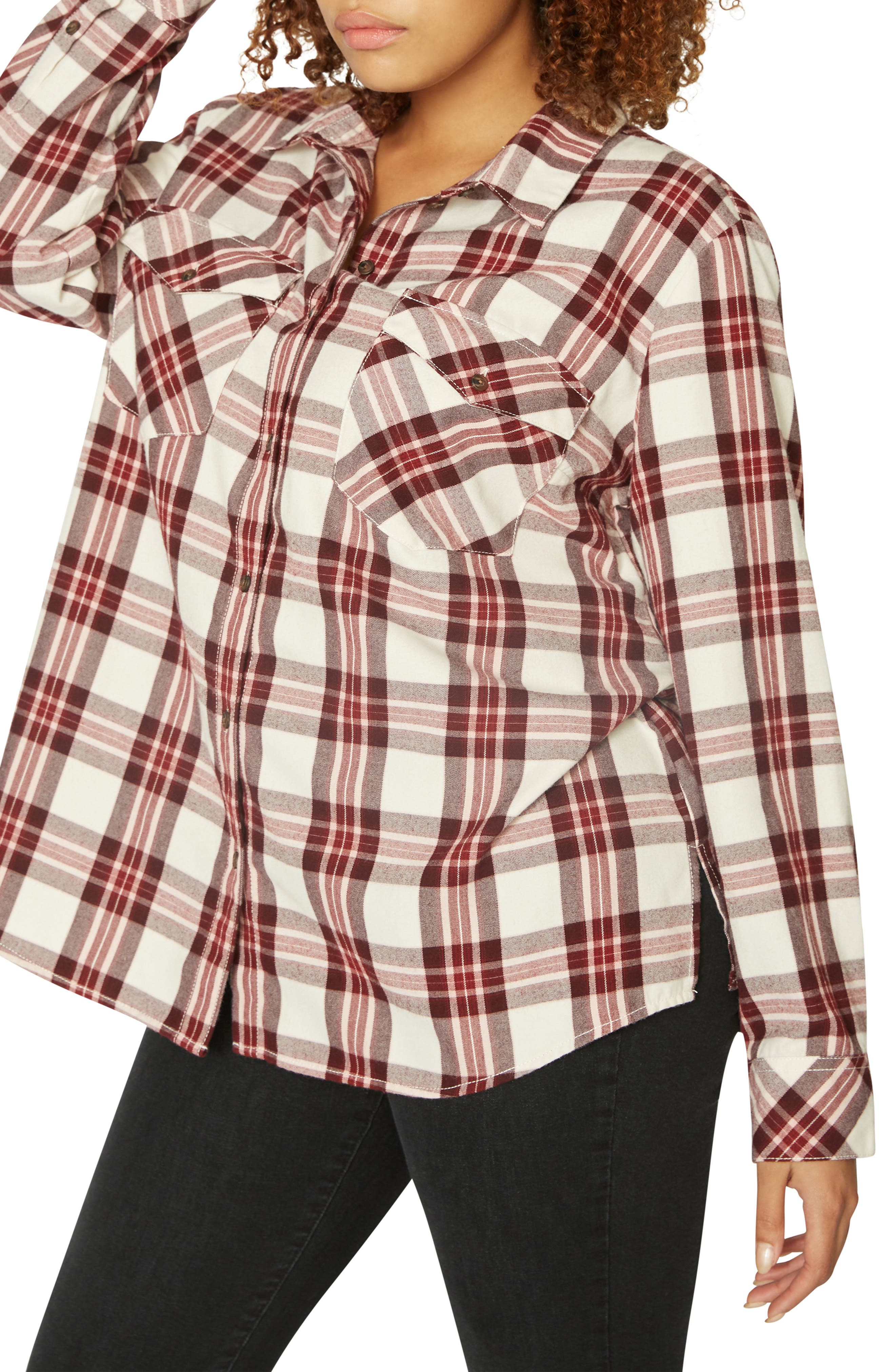 Boyfriend for Life Flannel Shirt,                             Main thumbnail 1, color,                             RENEGADE P