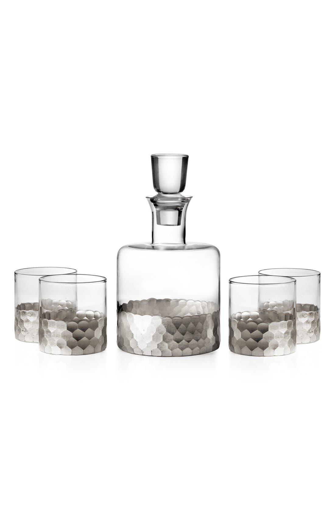 'Daphne' Decanter & Whiskey Glasses,                         Main,                         color, 040