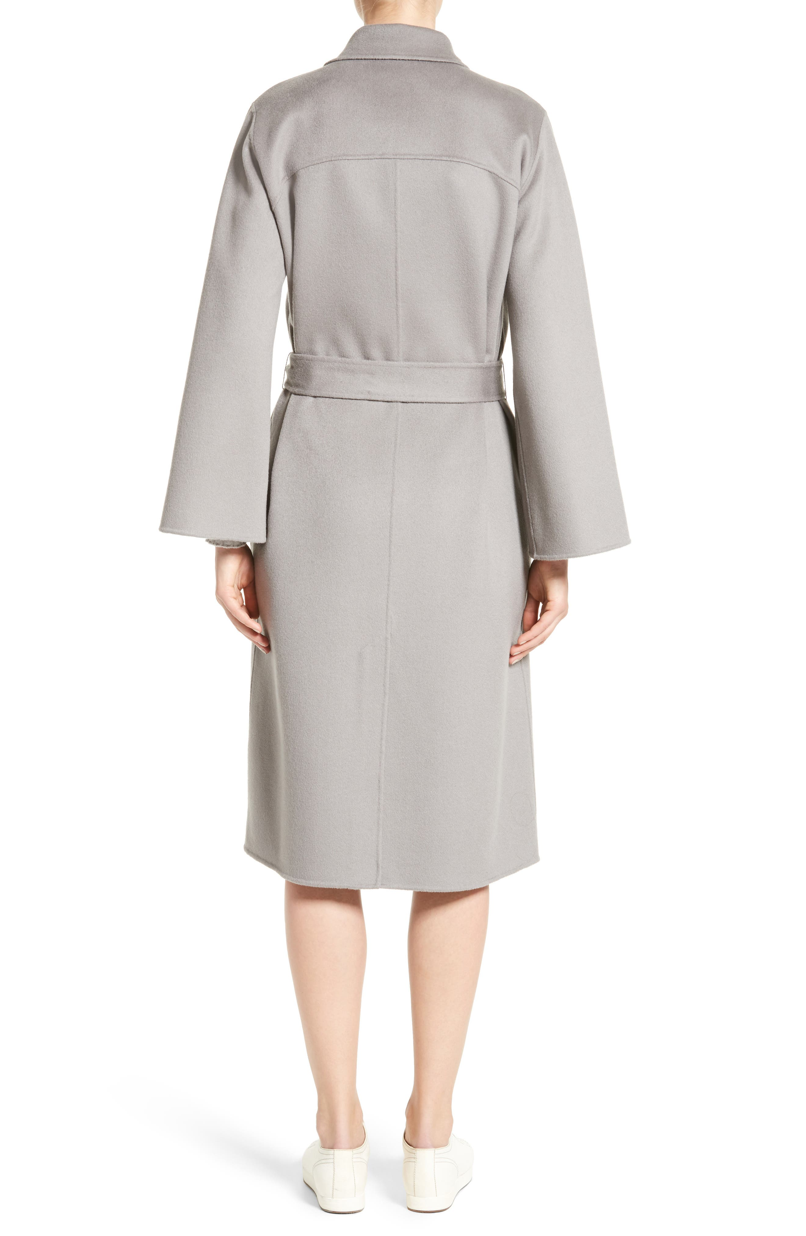 Double Face Cashmere Wrap Coat,                             Alternate thumbnail 3, color,