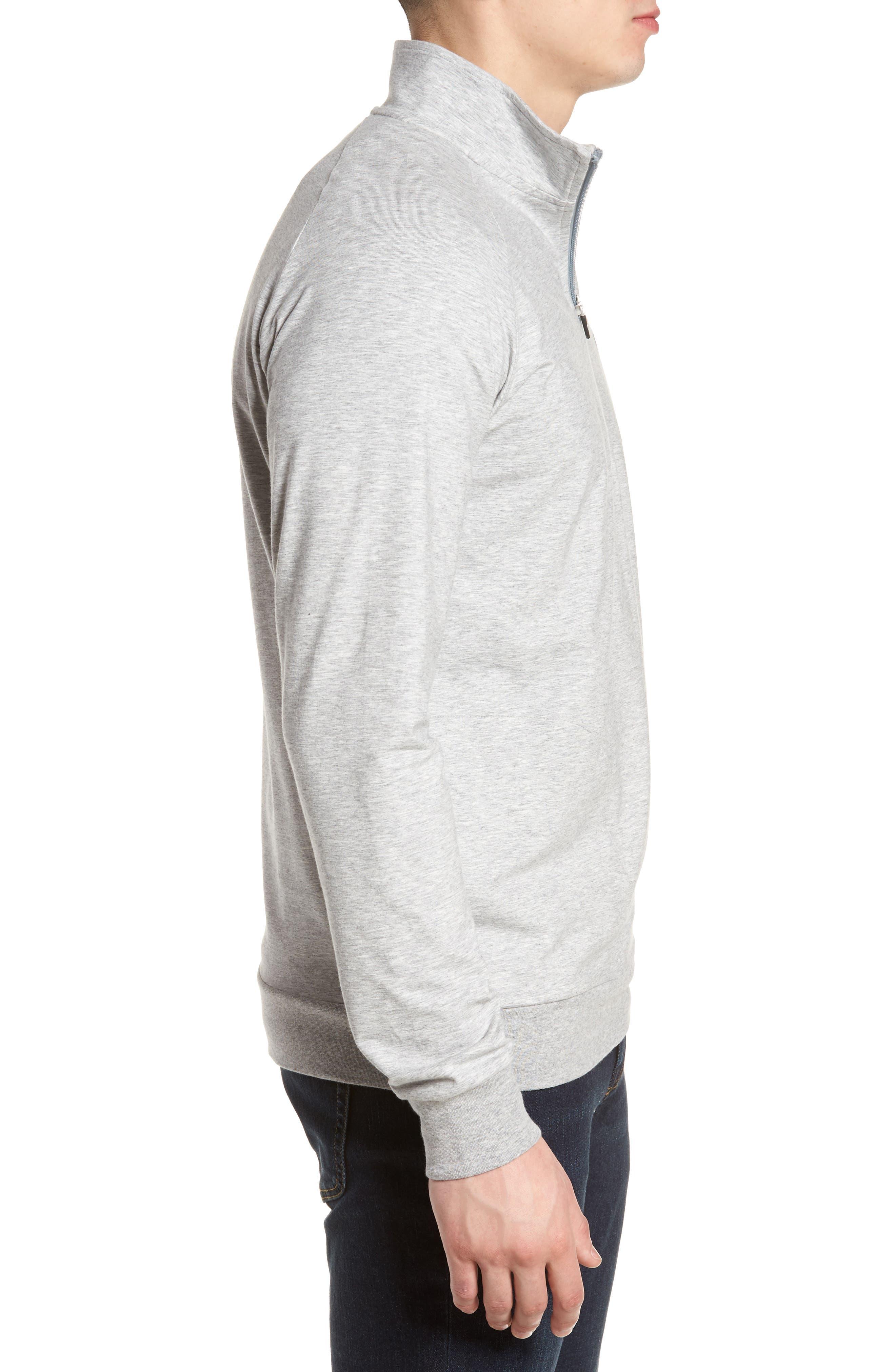 'Strange Love' Trim Fit Wrinkle Resistant Quarter Zip Jacket,                             Alternate thumbnail 3, color,                             020