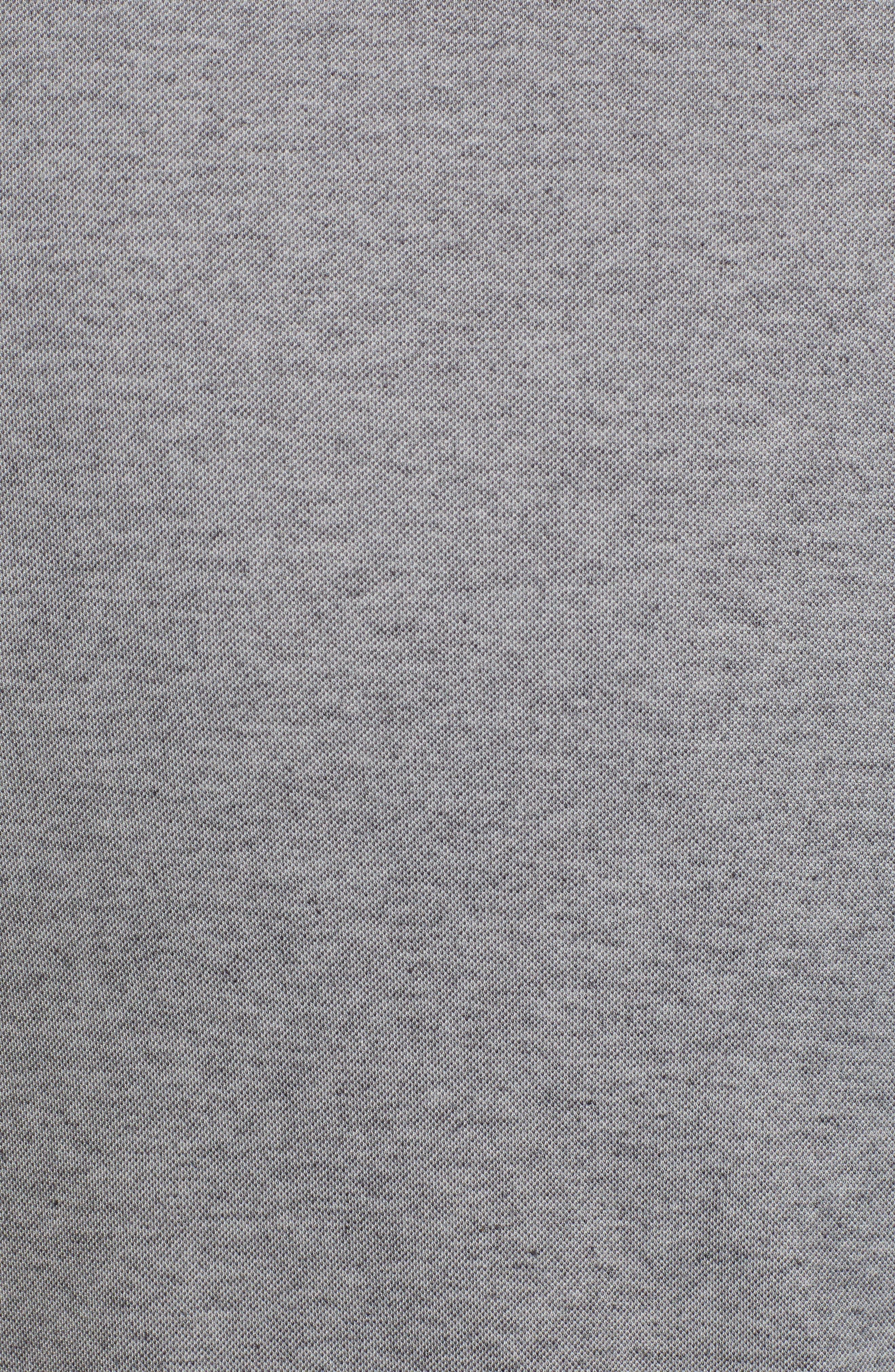 TRAVIS MATHEW,                             Piqué Pocket Polo,                             Alternate thumbnail 5, color,                             HEATHER BLACK