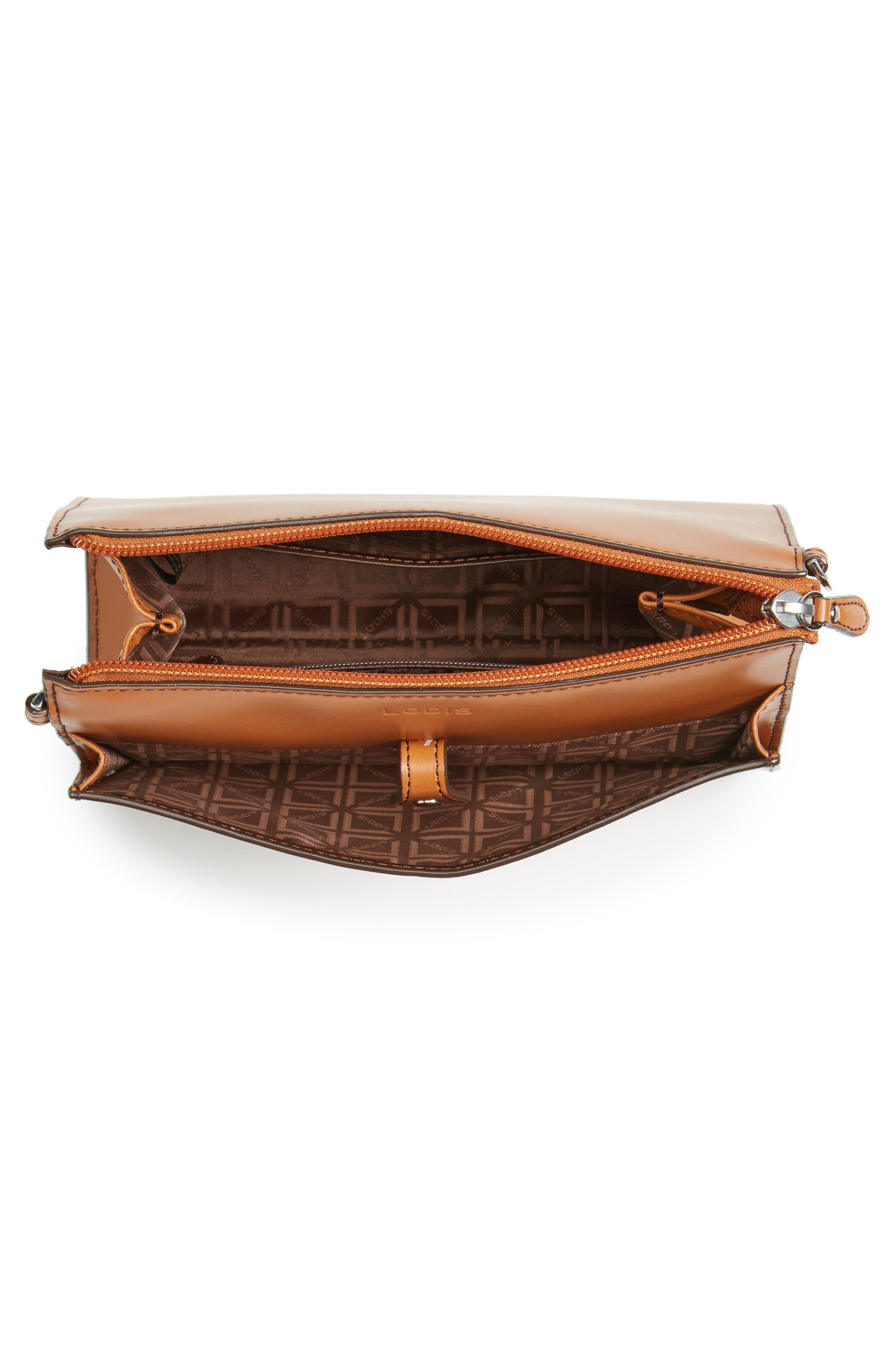Audrey Under Lock & Key Vicky Convertible Leather Crossbody Bag,                             Alternate thumbnail 4, color,                             TOFFEE