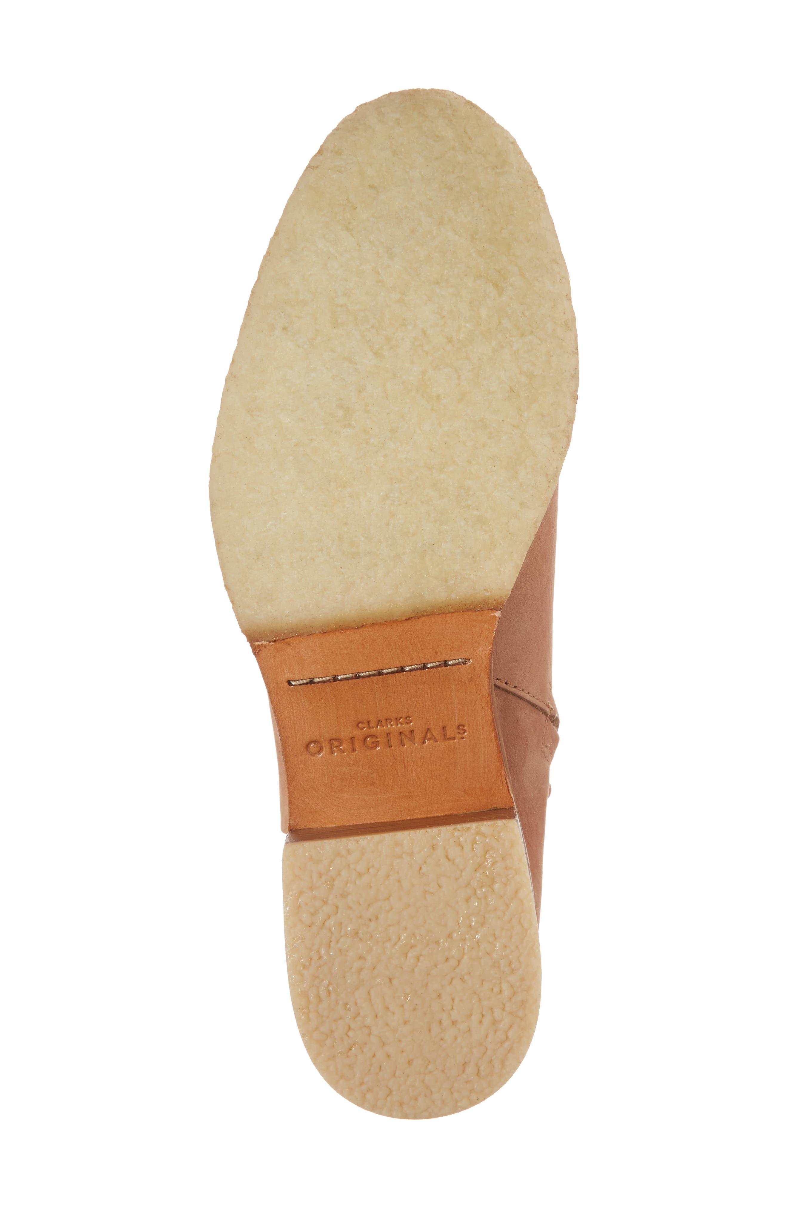 Amara Water Resistant Block Heel Bootie,                             Alternate thumbnail 6, color,                             SANDSTONE NUBUCK LEATHER