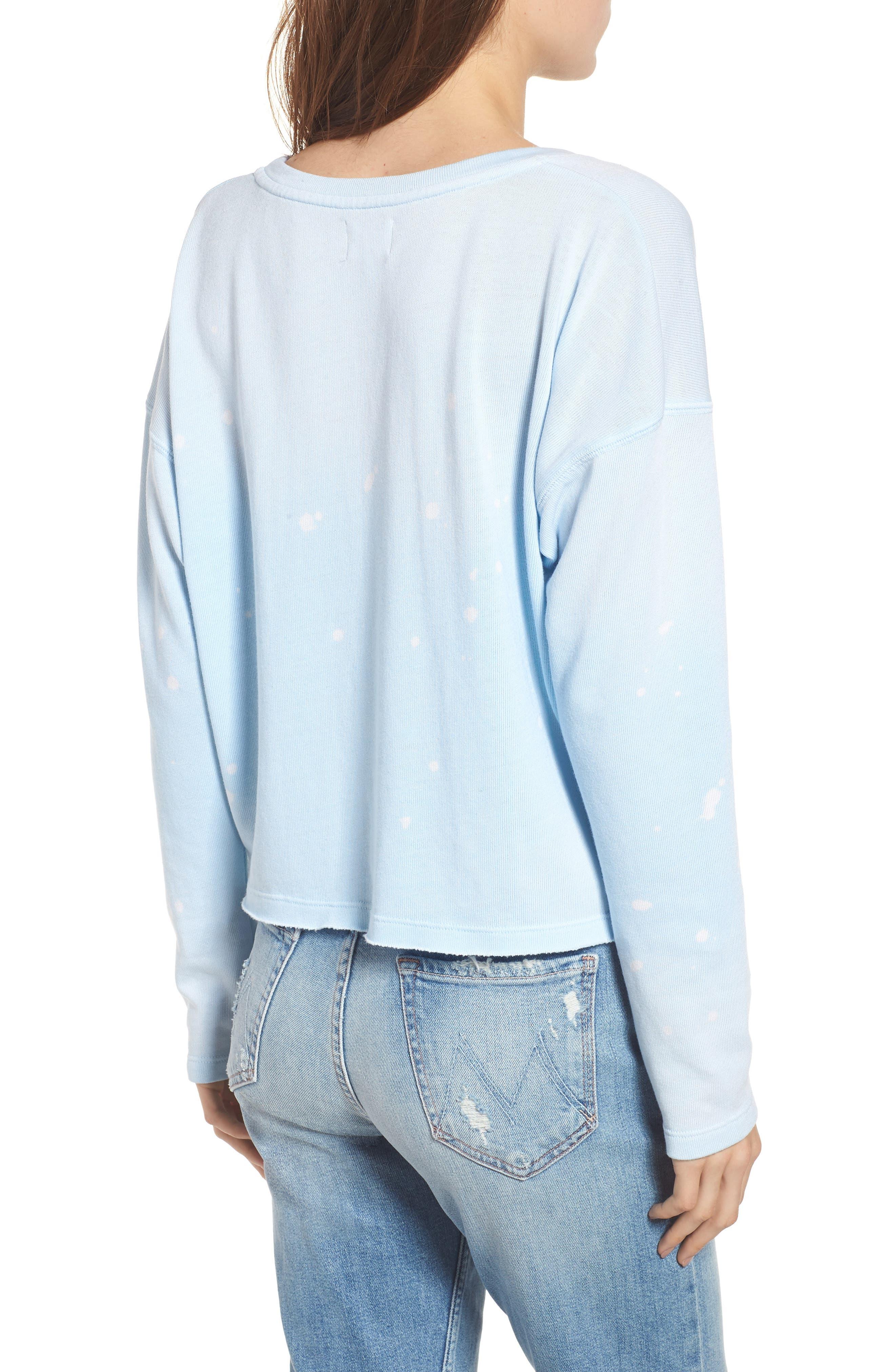 Coco Nuts Light Fleece Sweatshirt,                             Alternate thumbnail 2, color,                             SUN FADED SKY