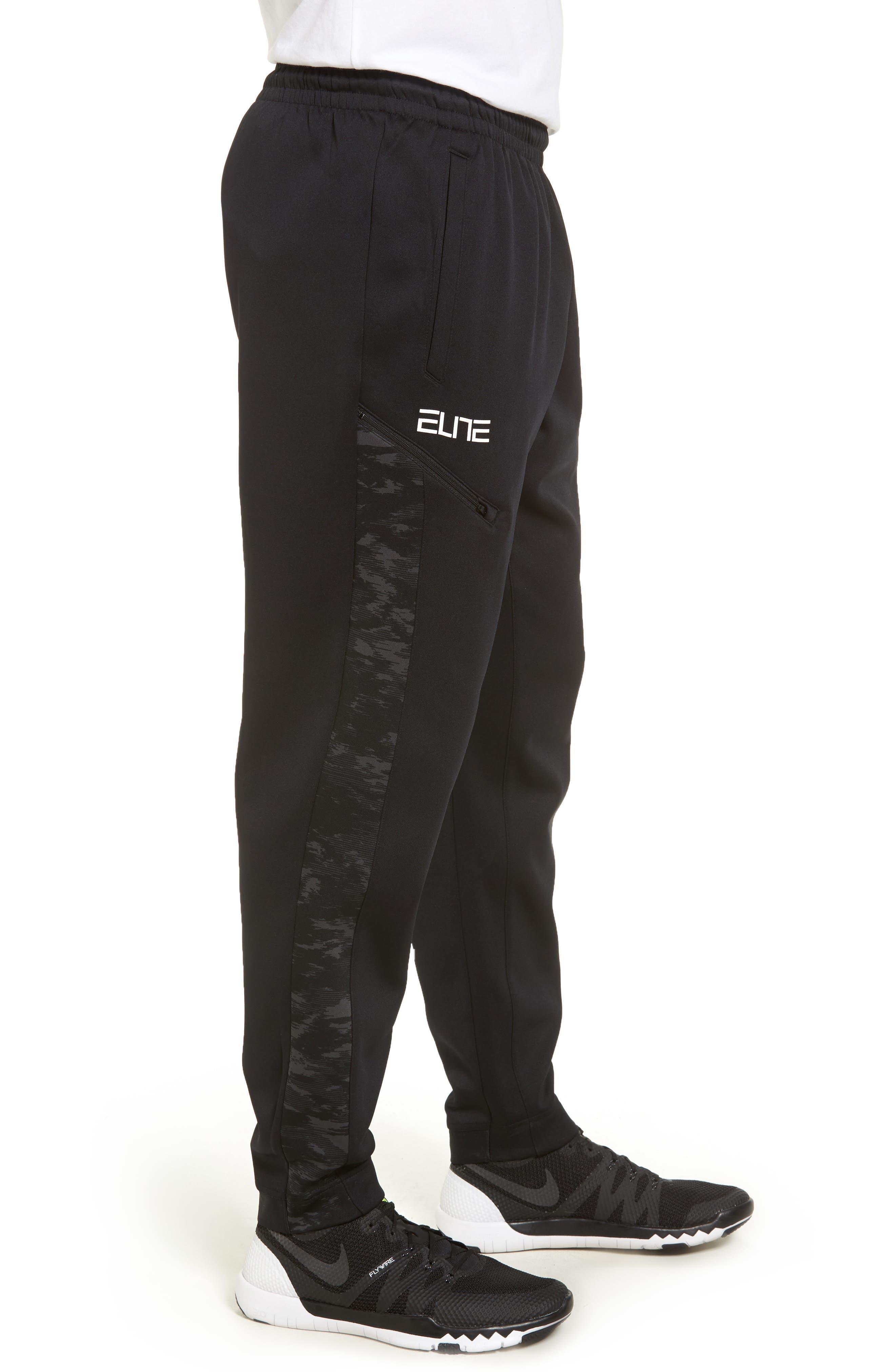 Therma Elite Basketball Pants,                             Alternate thumbnail 3, color,                             010