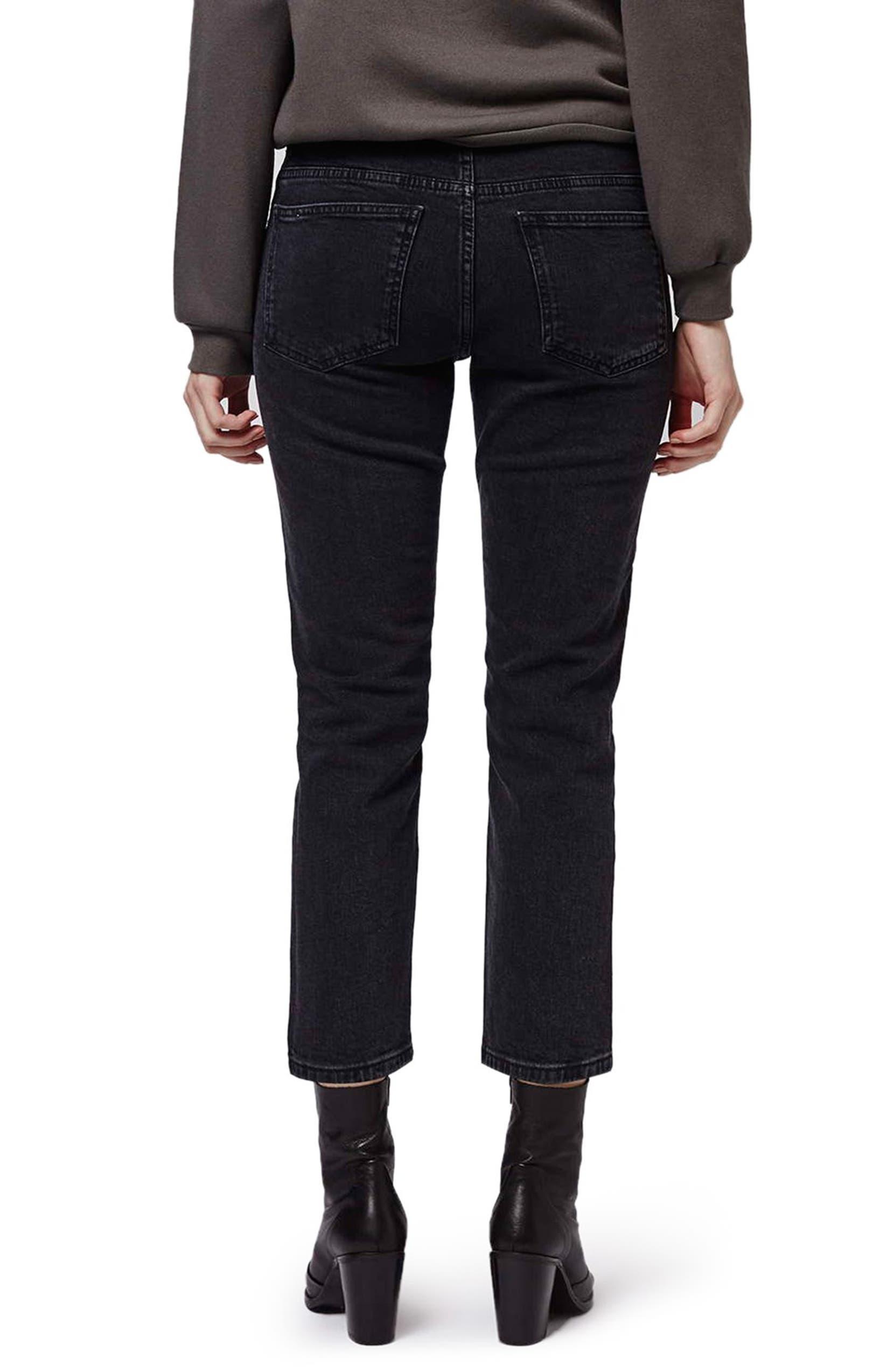 03000771461a8 Topshop Moto Crop Straight Leg Girlfriend Jeans (Petite)