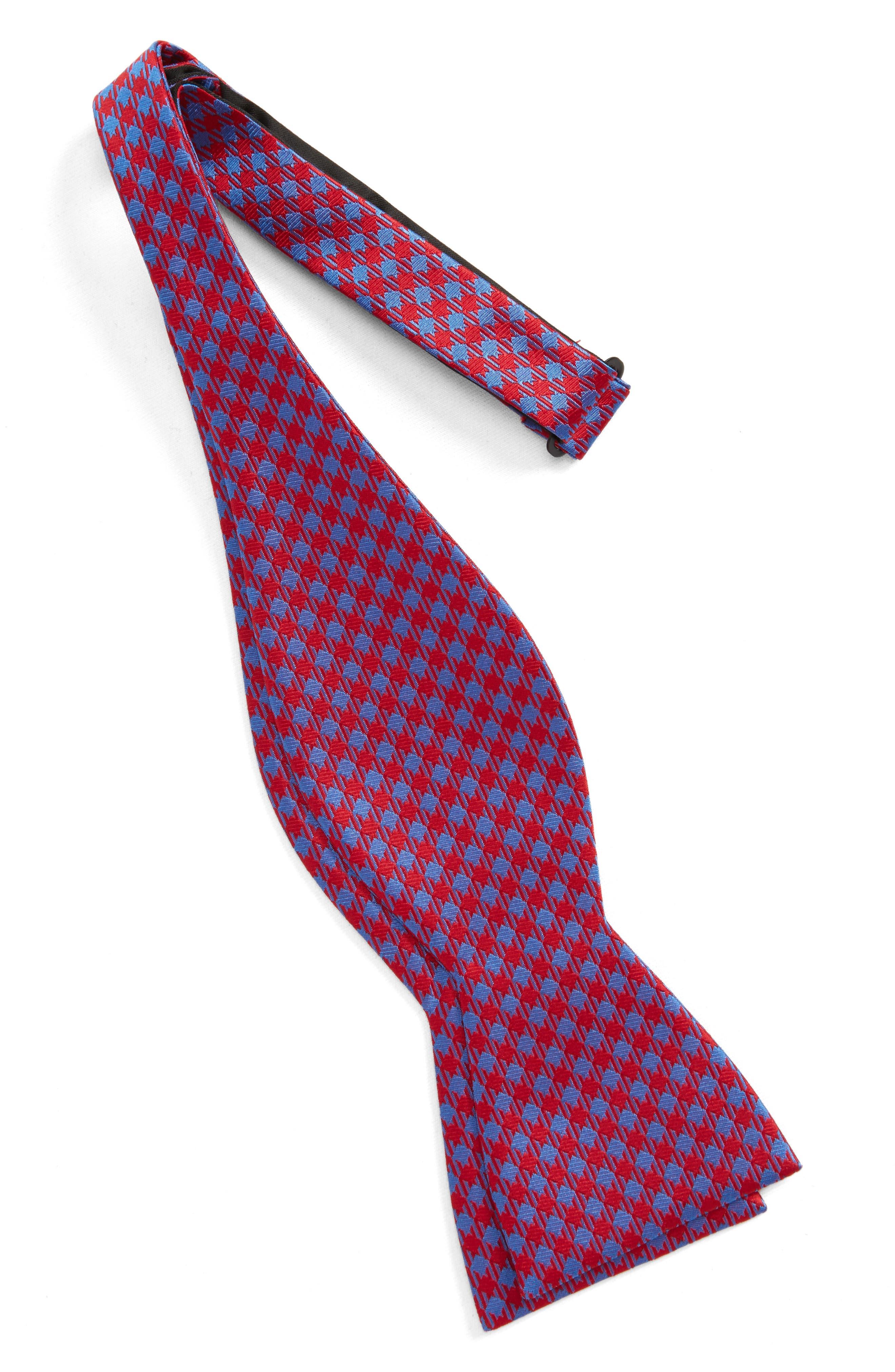 Commix Check Silk Bow Tie,                             Alternate thumbnail 2, color,                             600