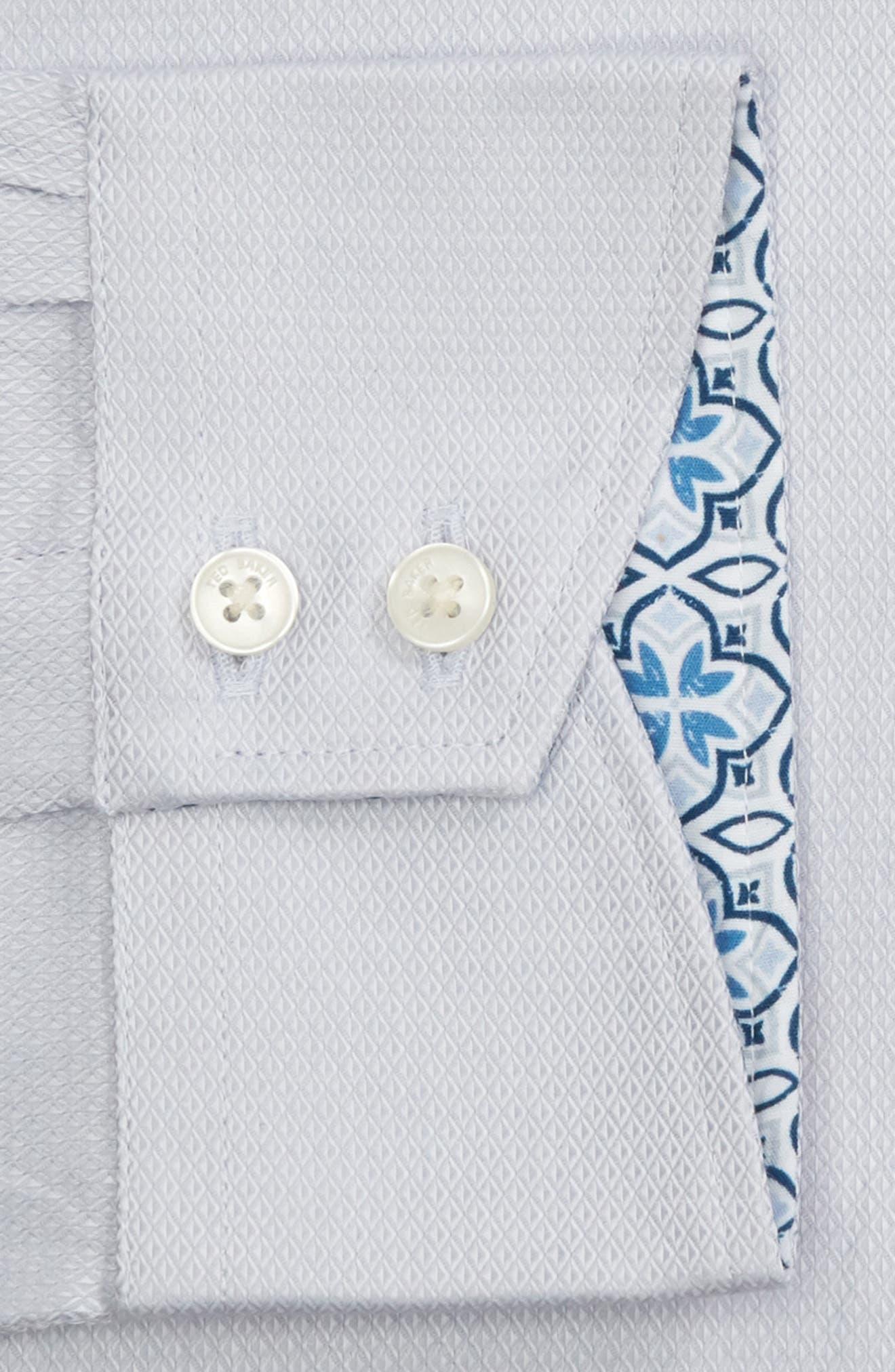 Ollyox Slim Fit Solid Dress Shirt,                             Alternate thumbnail 6, color,                             GREY
