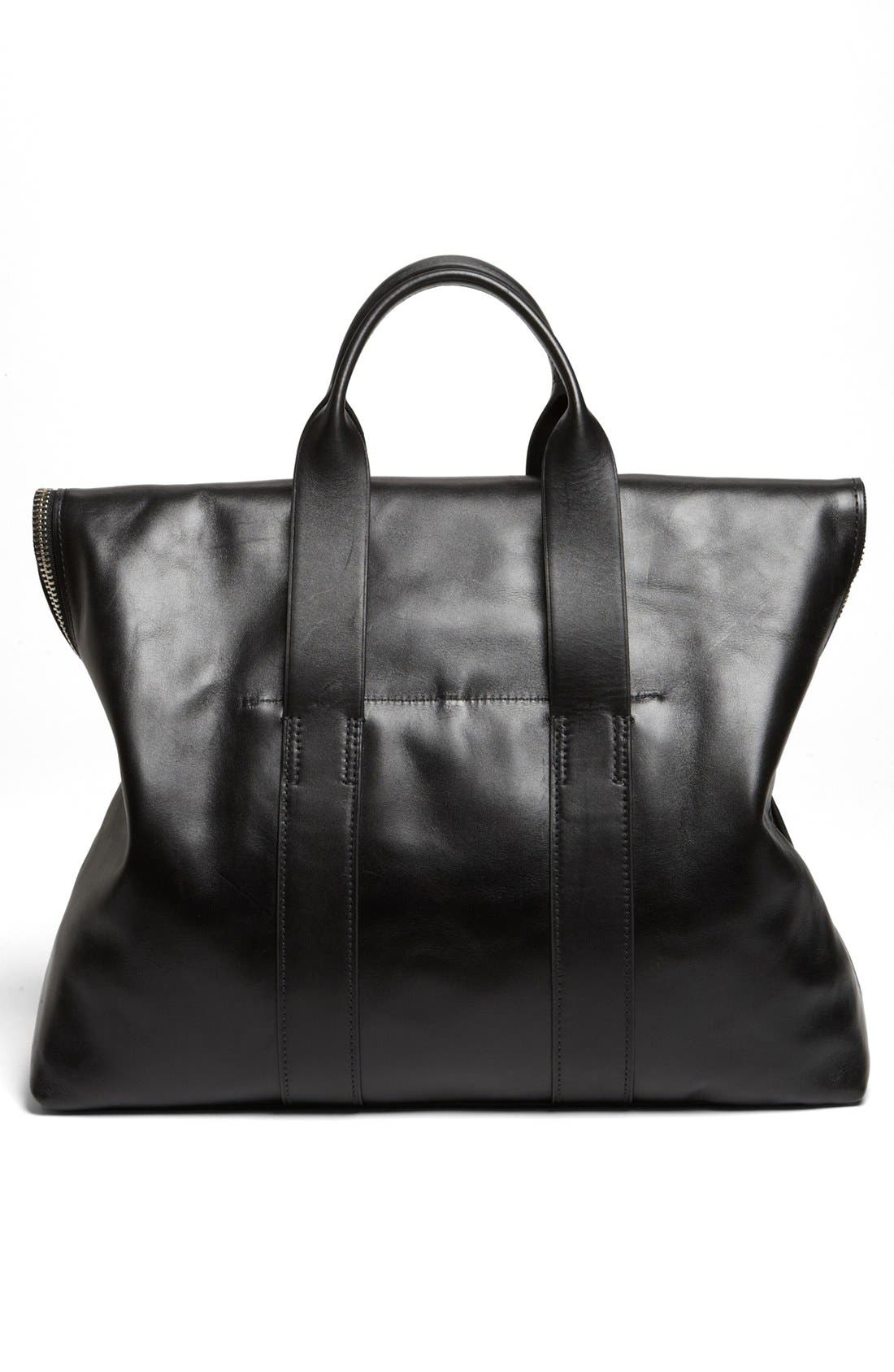 '31 Hour' Leather Tote,                             Alternate thumbnail 6, color,                             001