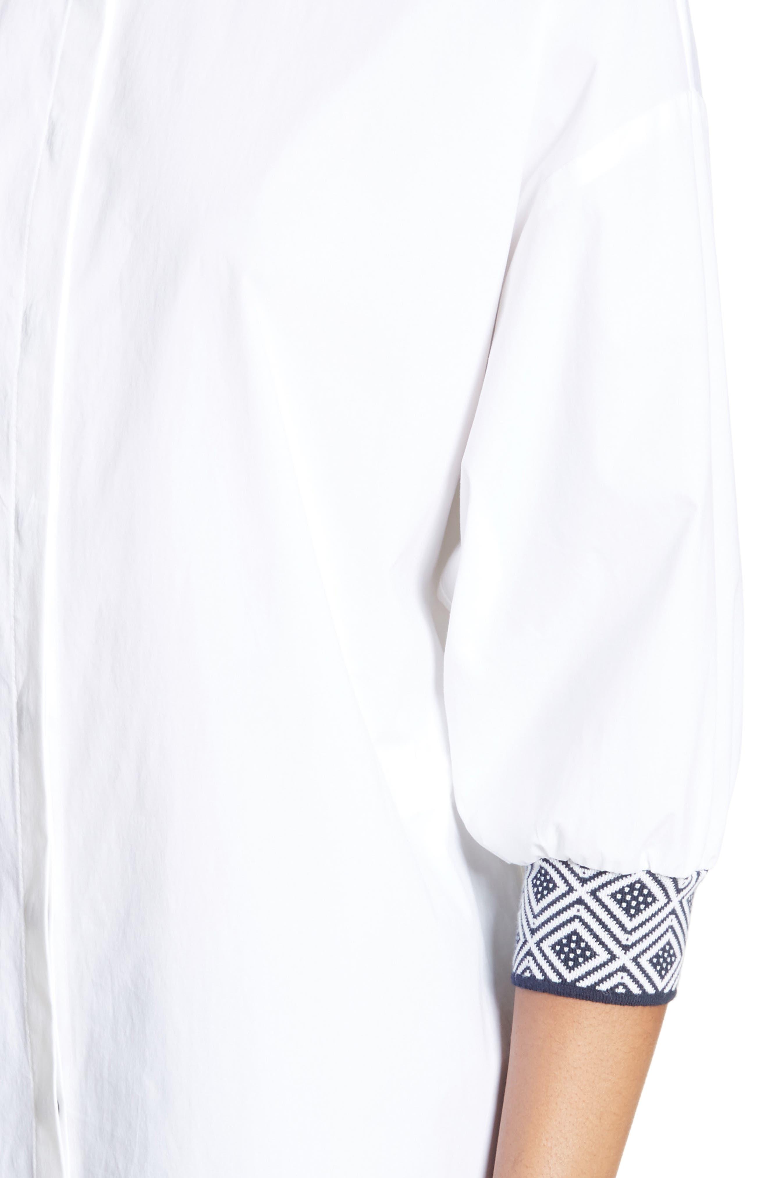 Devika Tile Techno Stretch Cotton Shirt,                             Alternate thumbnail 4, color,