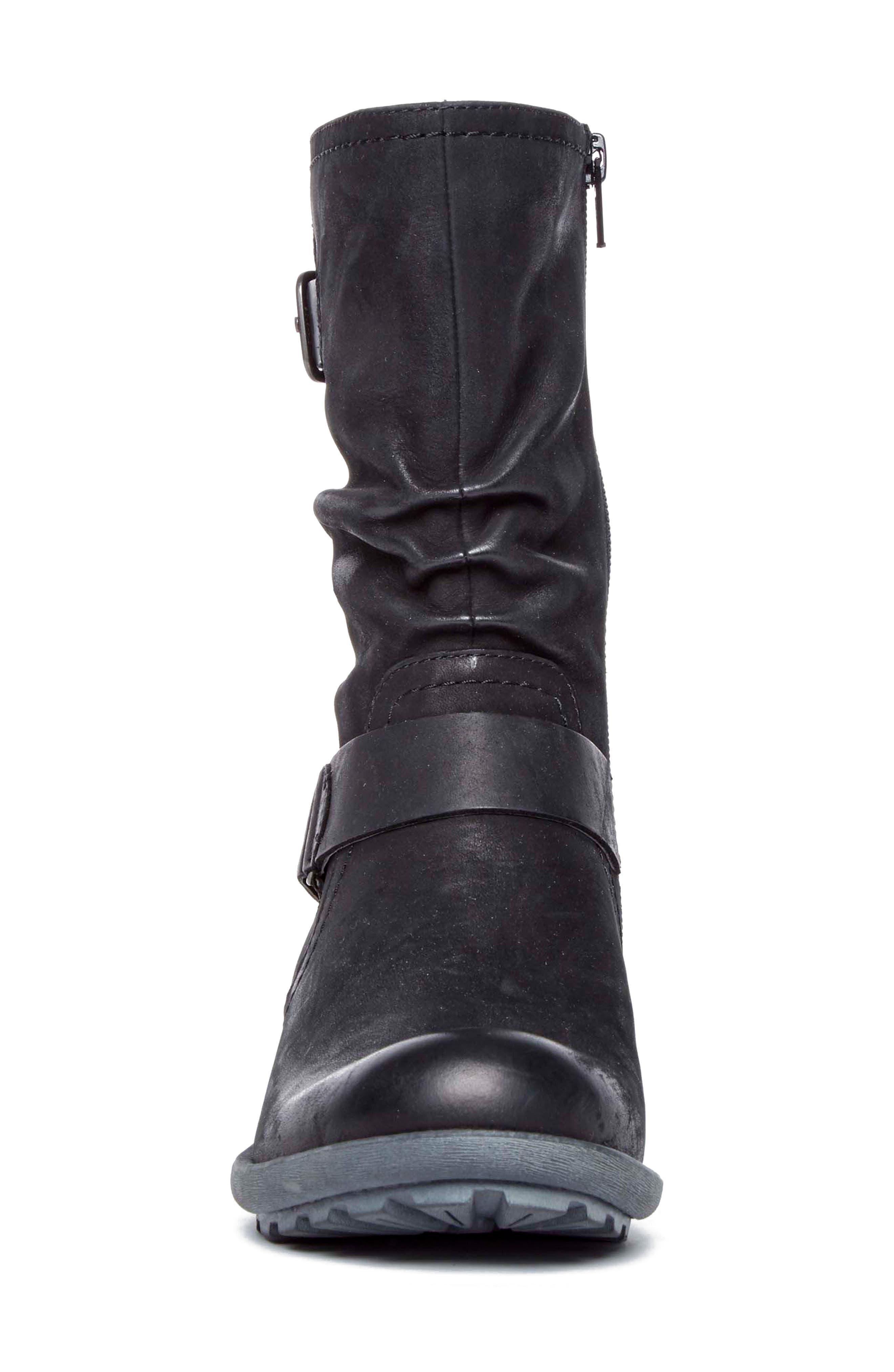 Brunswick Boot,                             Alternate thumbnail 4, color,                             BLACK LEATHER