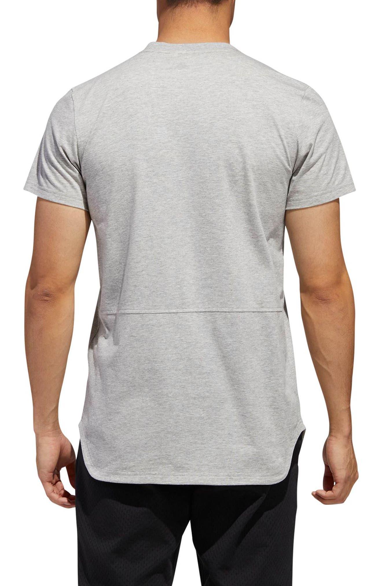 Scoop International T-Shirt,                             Alternate thumbnail 2, color,                             MEDIUM GREY HEATHER
