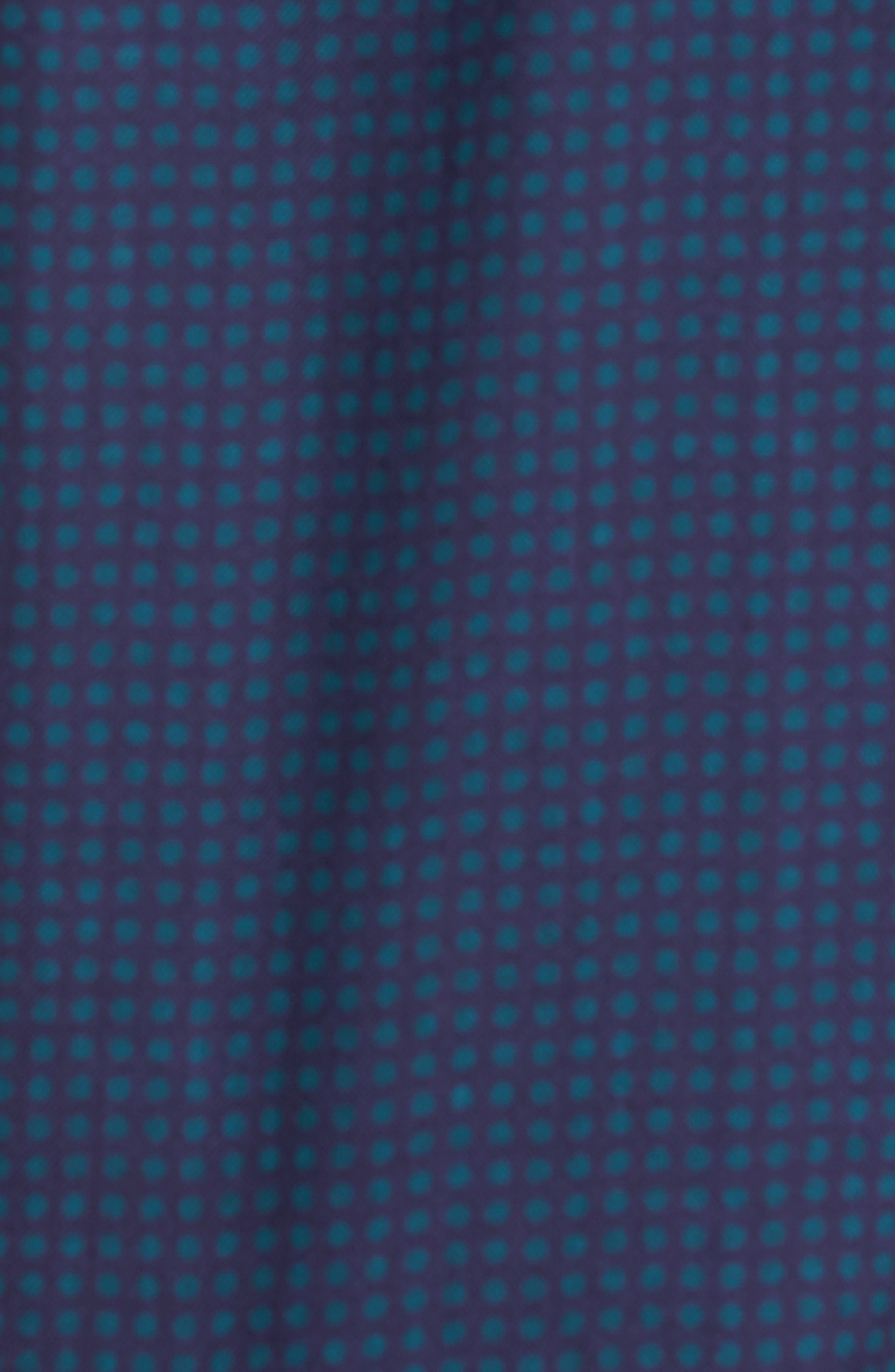 Shaped Fit Print Sport Shirt,                             Alternate thumbnail 5, color,                             503