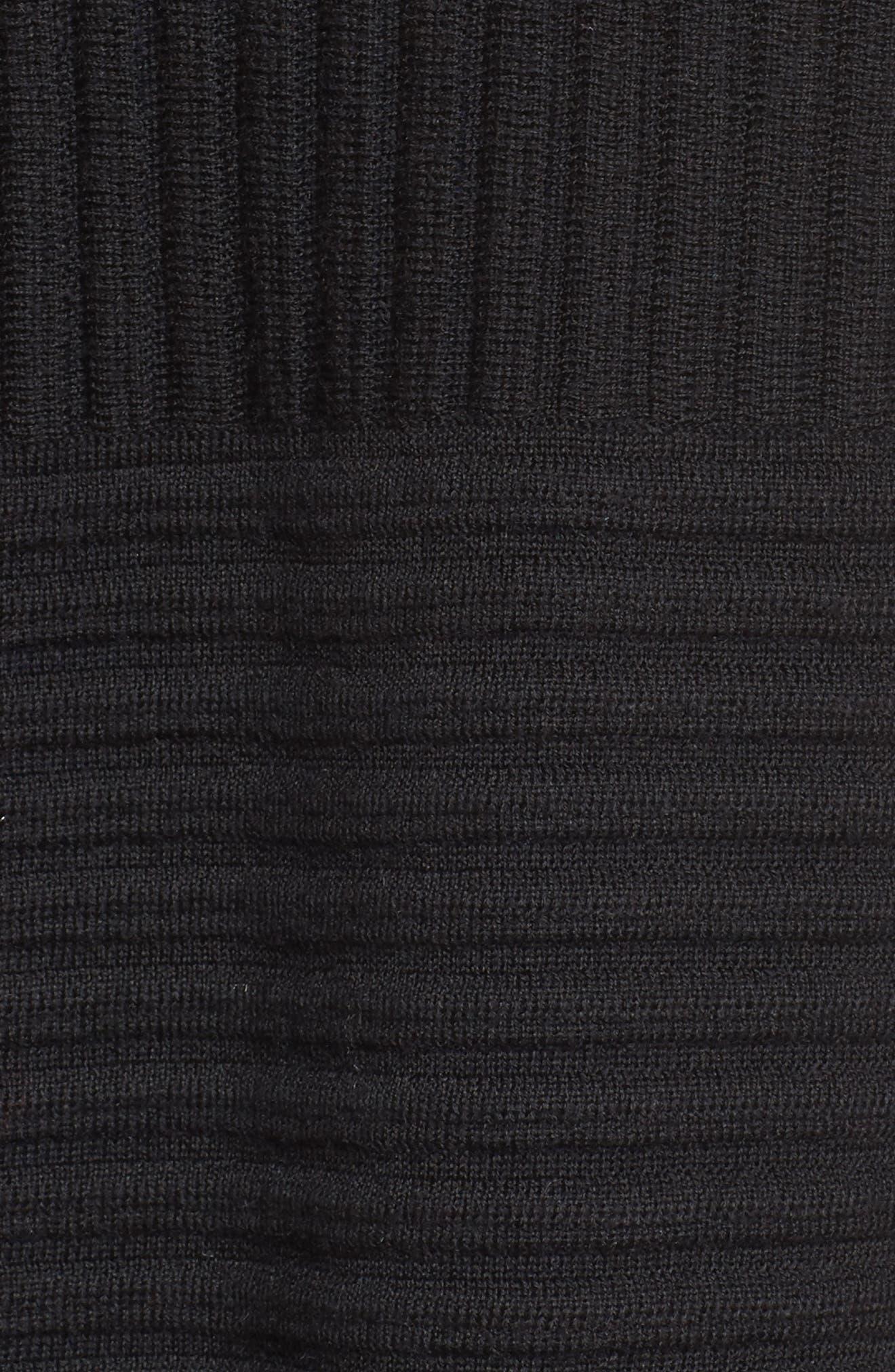 Ribbed Merino Wool Long Cardigan,                             Alternate thumbnail 17, color,
