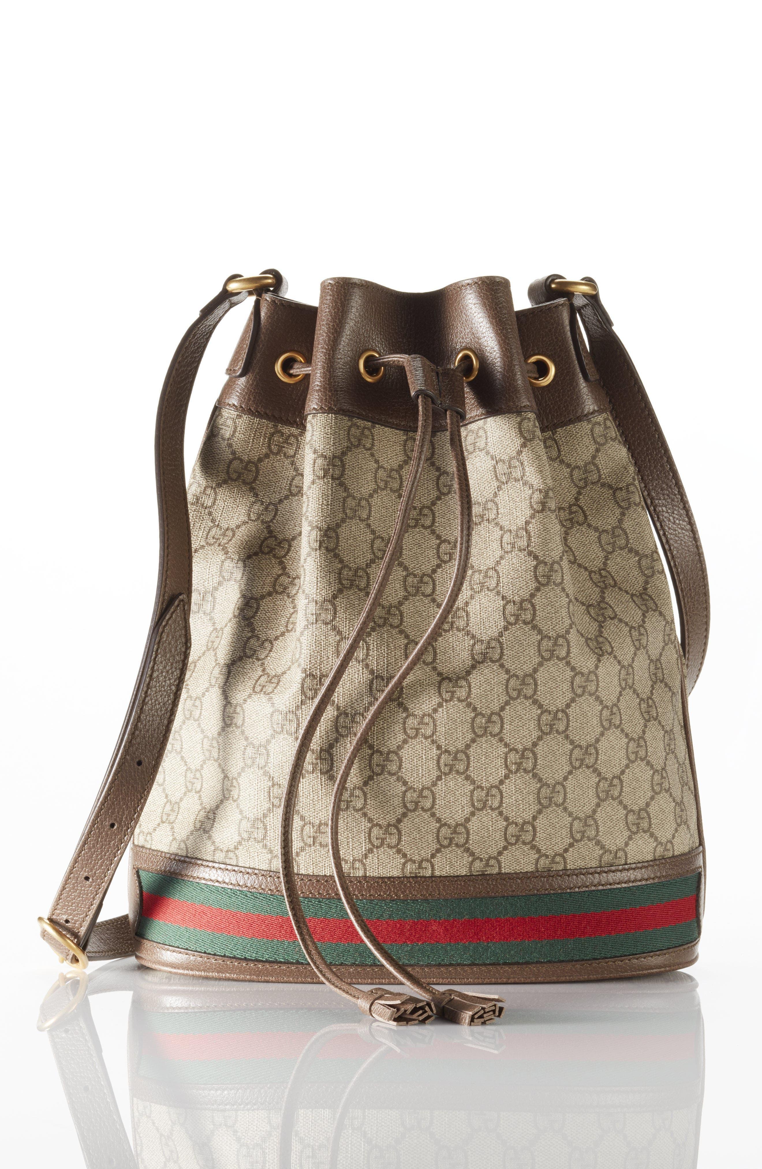 Ophidia GG Supreme Bucket Shoulder Bag,                             Alternate thumbnail 7, color,                             250