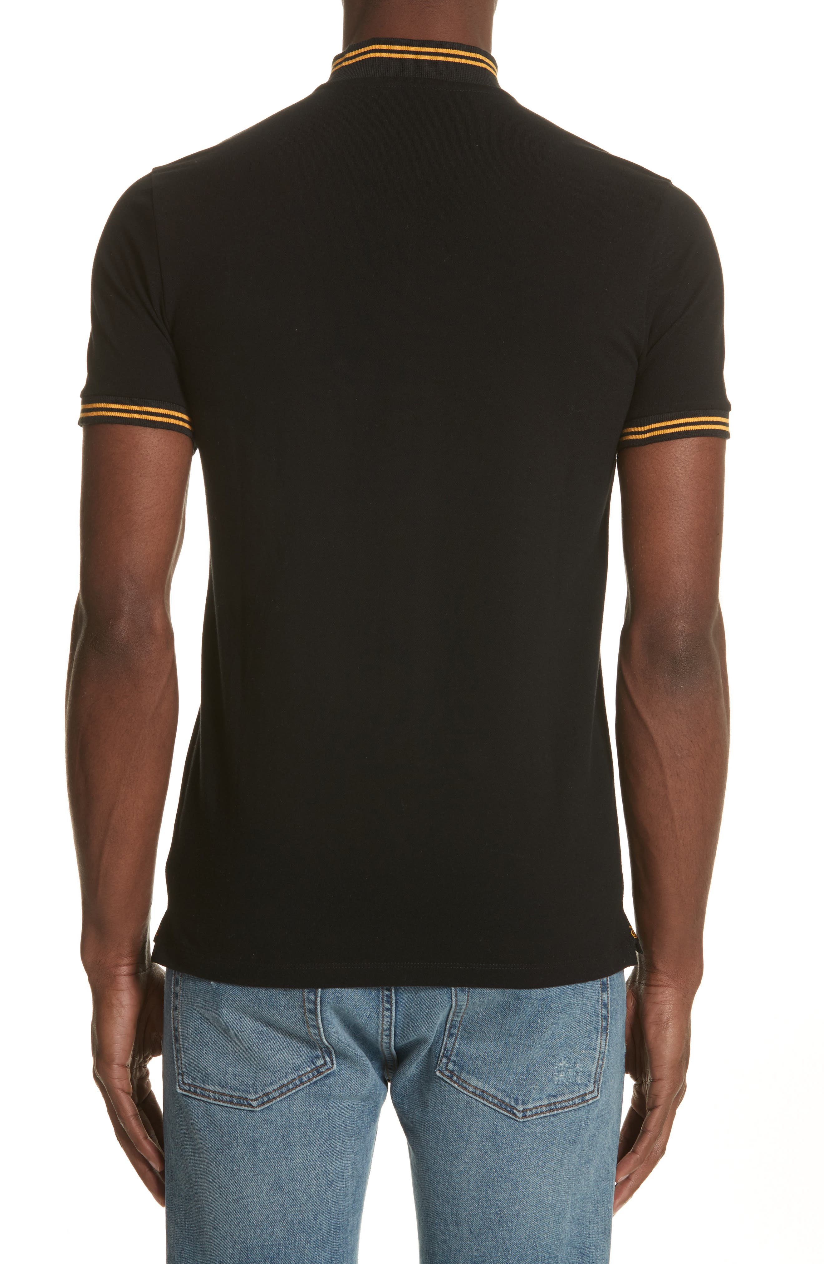 Tipped Polo,                             Alternate thumbnail 2, color,                             001