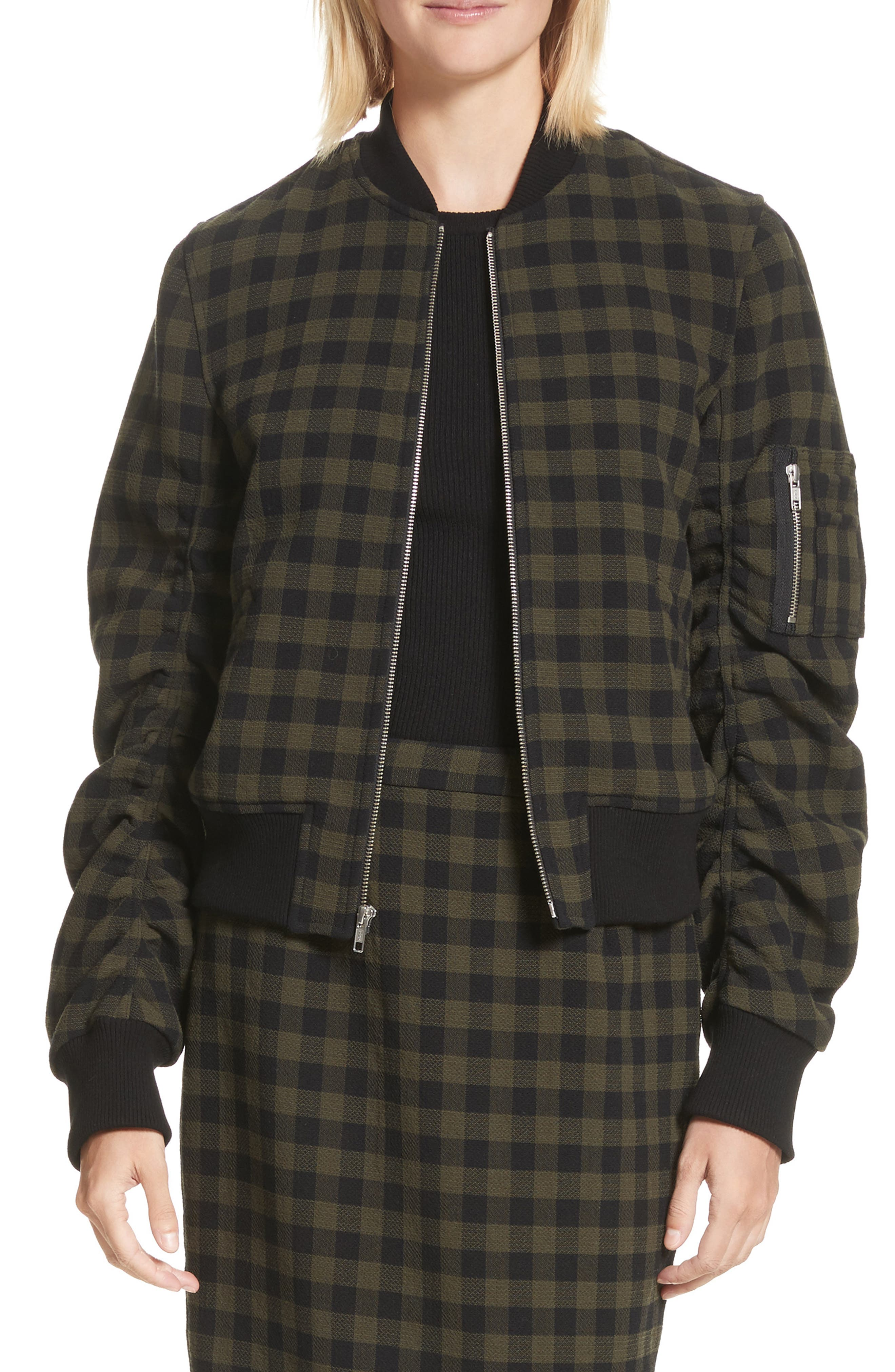 A..L.C. Andrew Wool Bomber Jacket,                             Main thumbnail 1, color,                             340