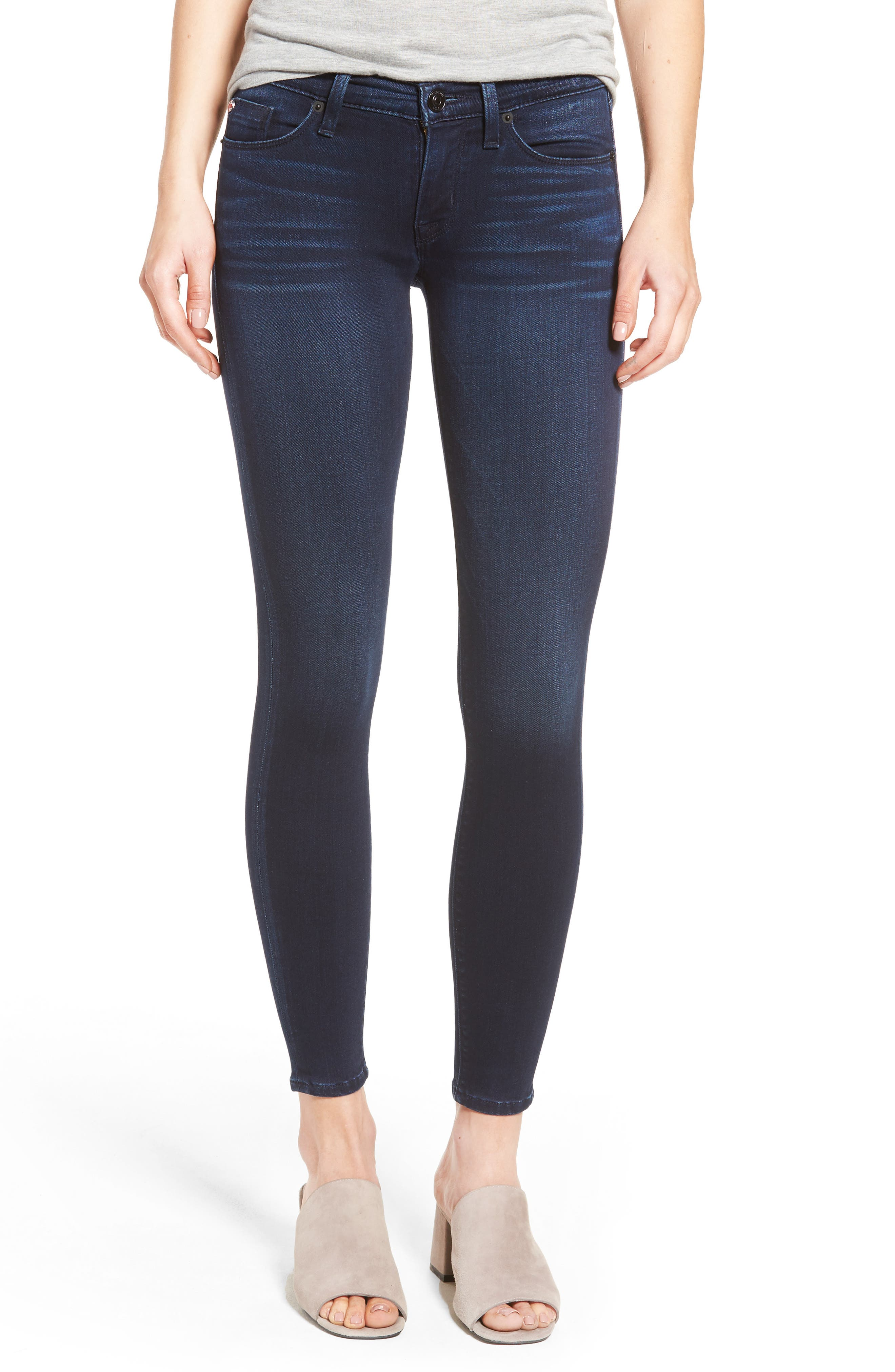 Krista Super Skinny Crop Jeans,                             Main thumbnail 1, color,                             401