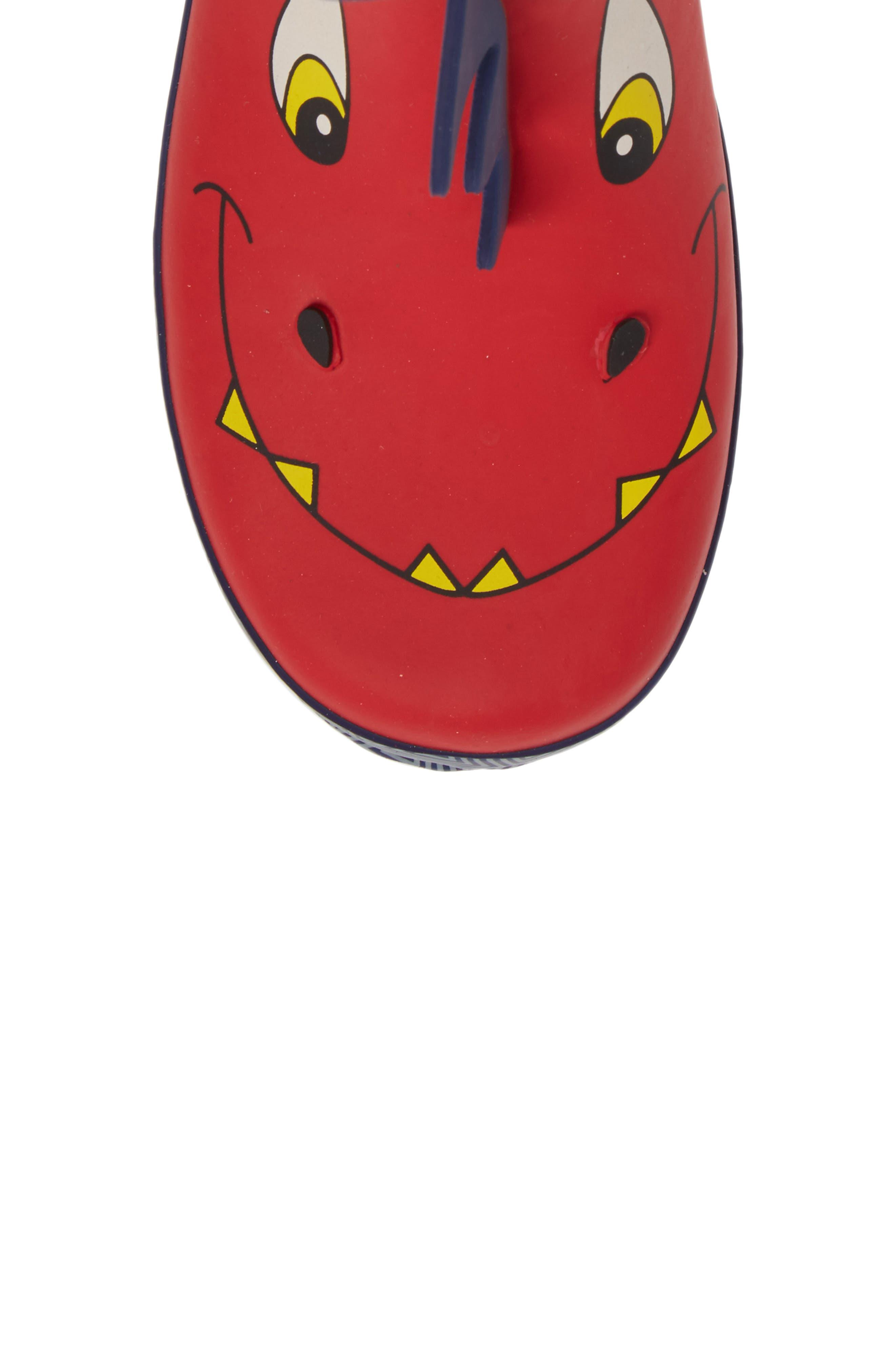 Spike Rain Boot,                             Alternate thumbnail 5, color,                             RED