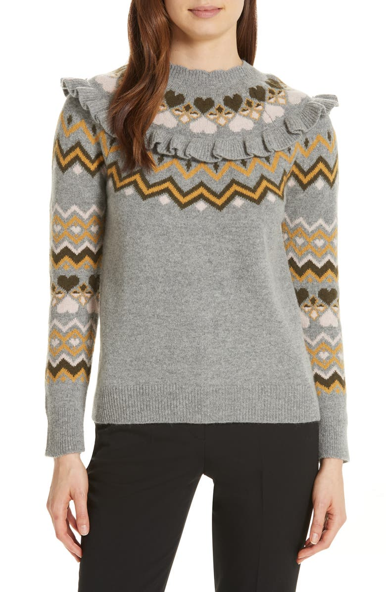Ted Baker London Mysheli Fair Isle Sweater | Nordstrom