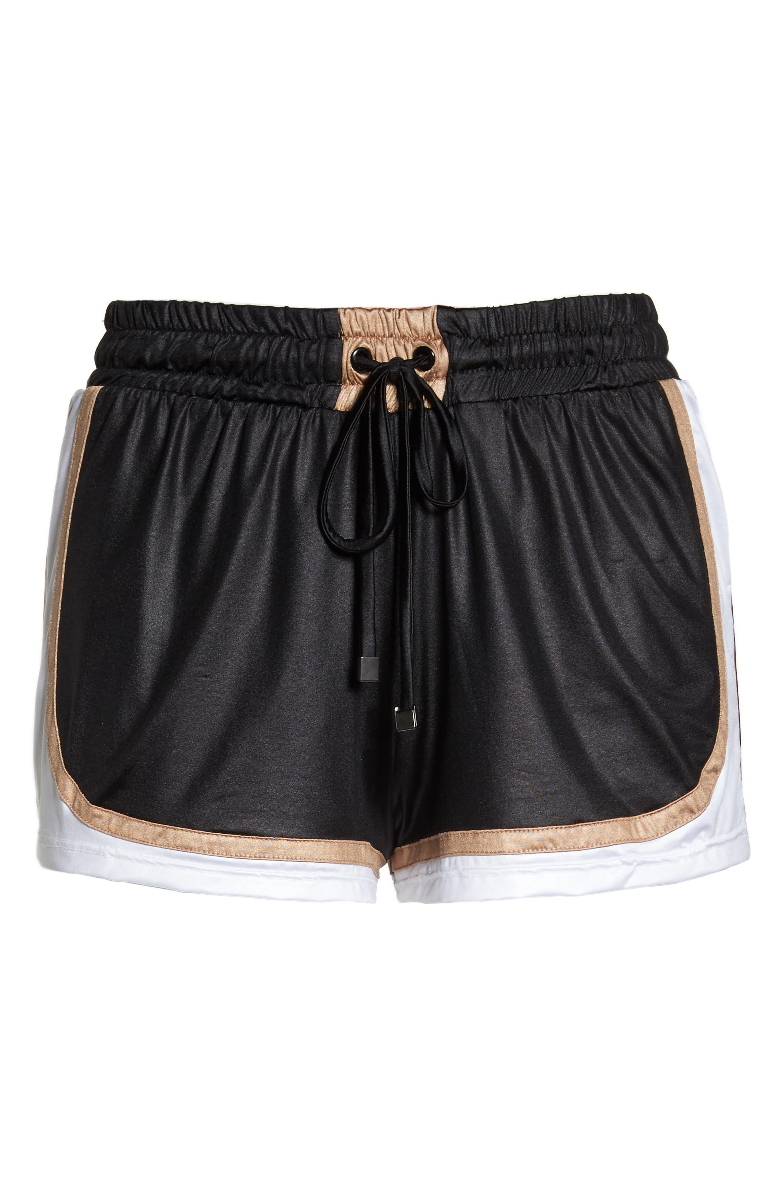 Blackout Shorts,                             Alternate thumbnail 7, color,                             BLACK/ NUDE/ WHITE