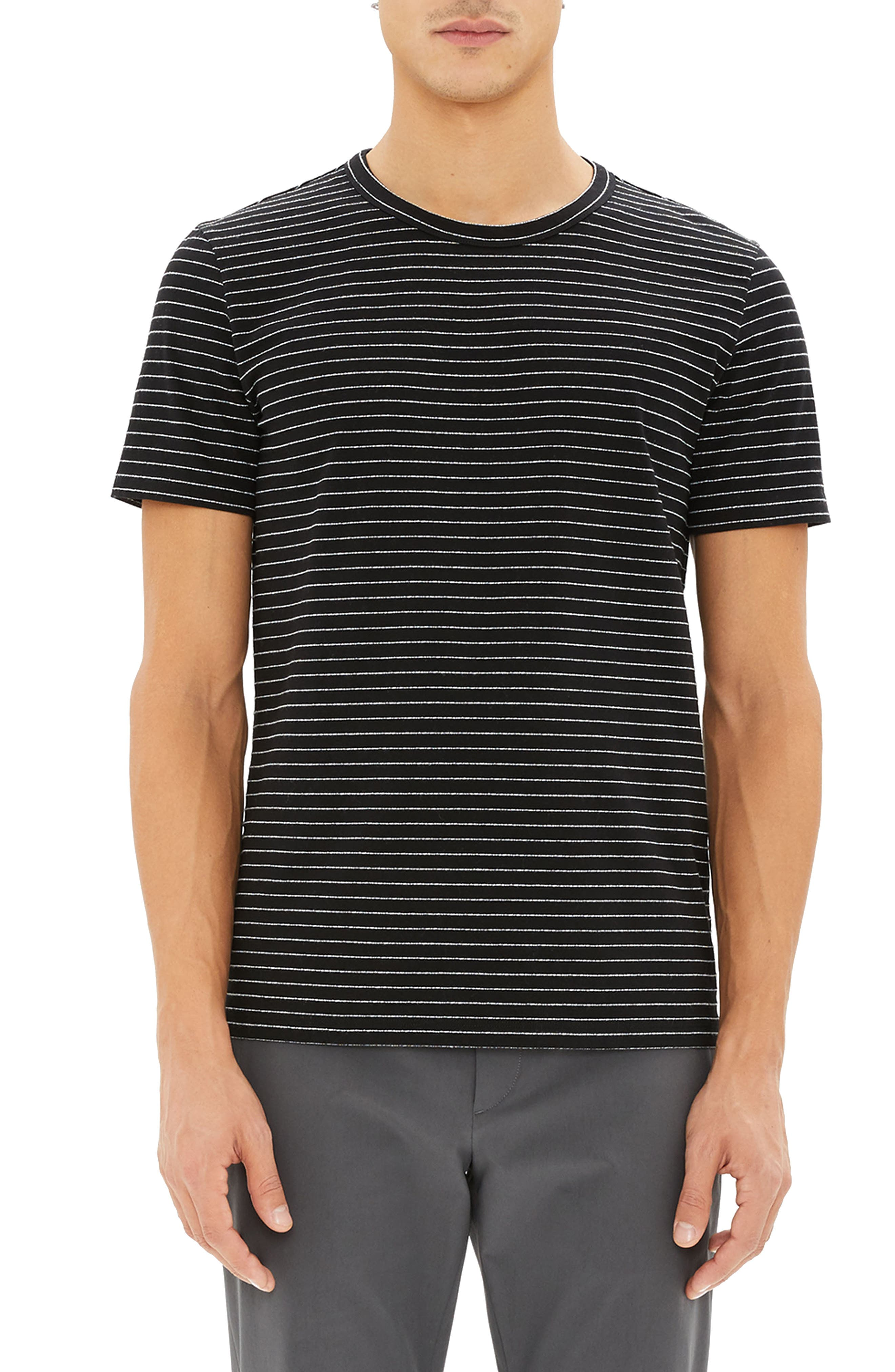 THEORY,                             Essential Striped T-Shirt,                             Main thumbnail 1, color,                             009