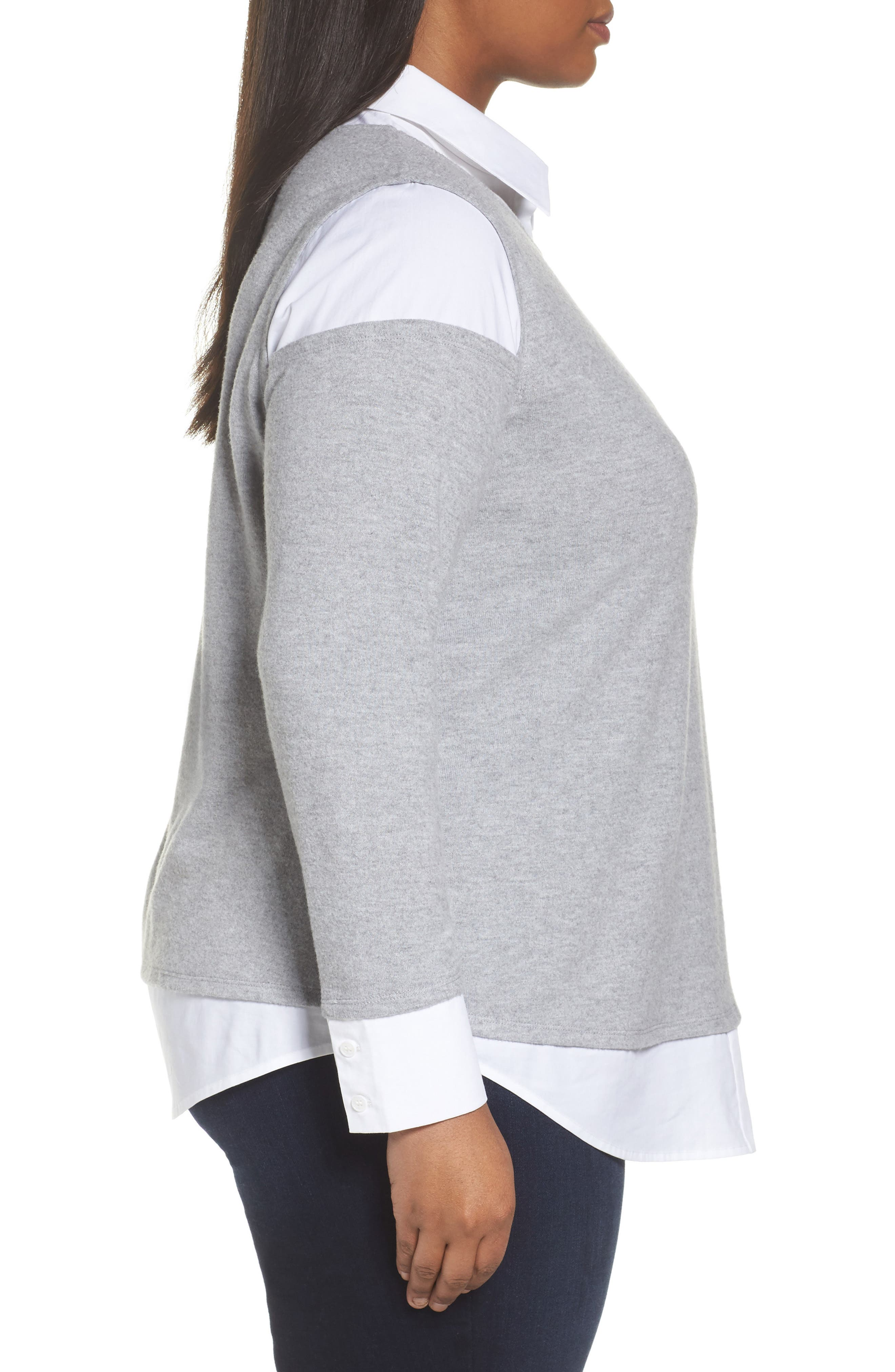 Mix Media Brushed Jersey Top,                             Alternate thumbnail 10, color,