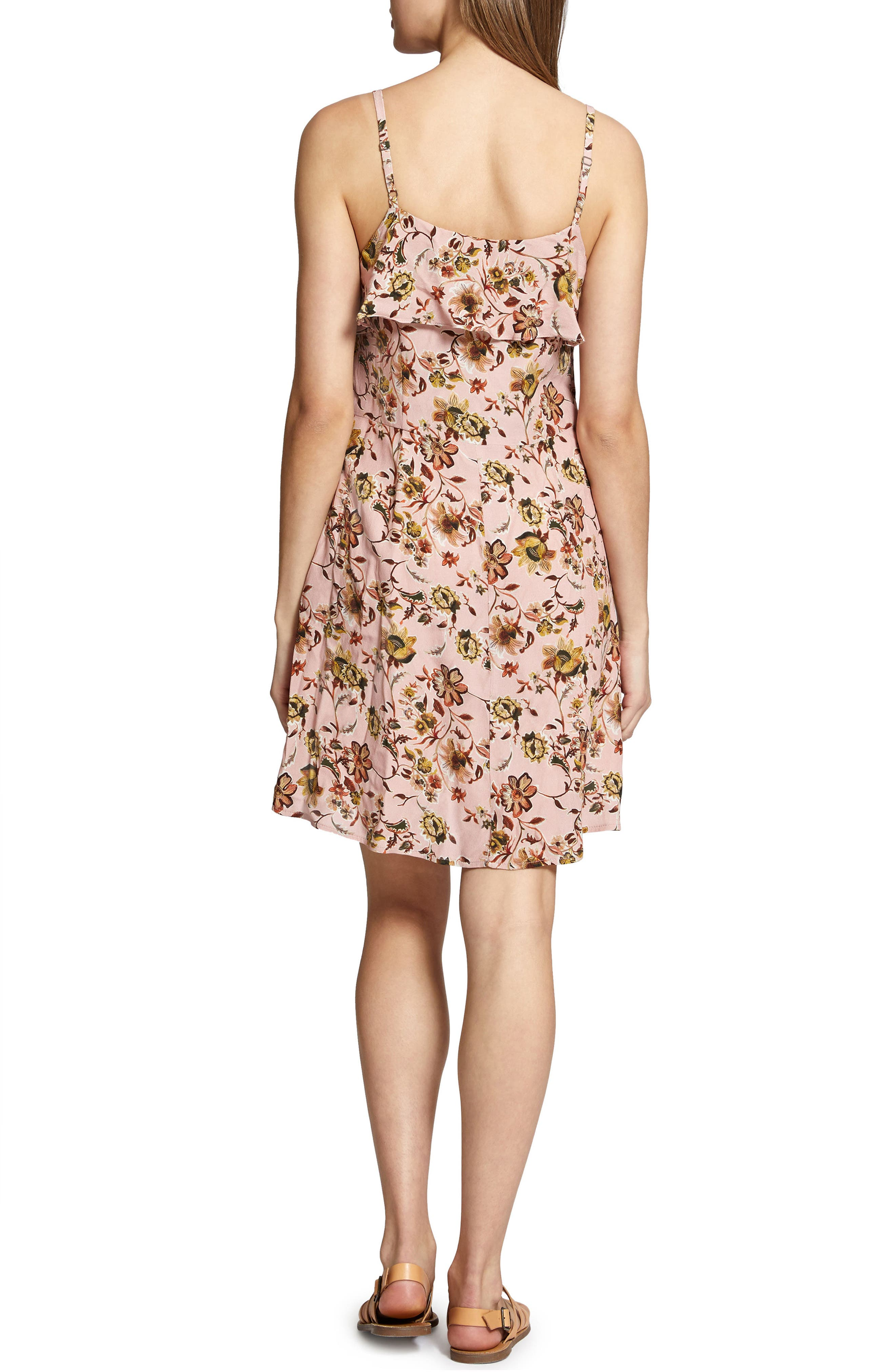 Rafaella Floral Print Dress,                             Alternate thumbnail 4, color,