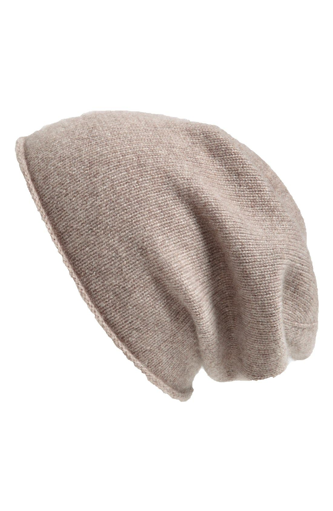 Slouchy Cashmere Beanie,                             Main thumbnail 9, color,
