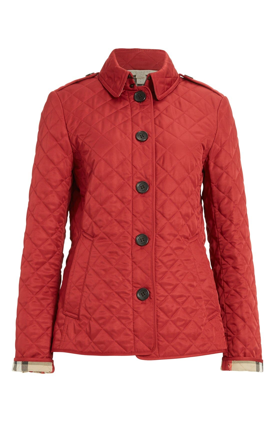 Ashurst Quilted Jacket,                             Alternate thumbnail 4, color,                             PARADE RED