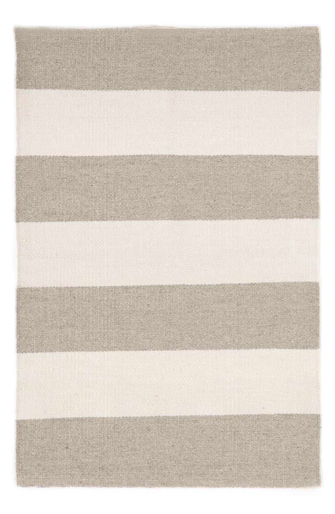 'Falls Village Stripe' Rug,                             Main thumbnail 1, color,                             CEMENT