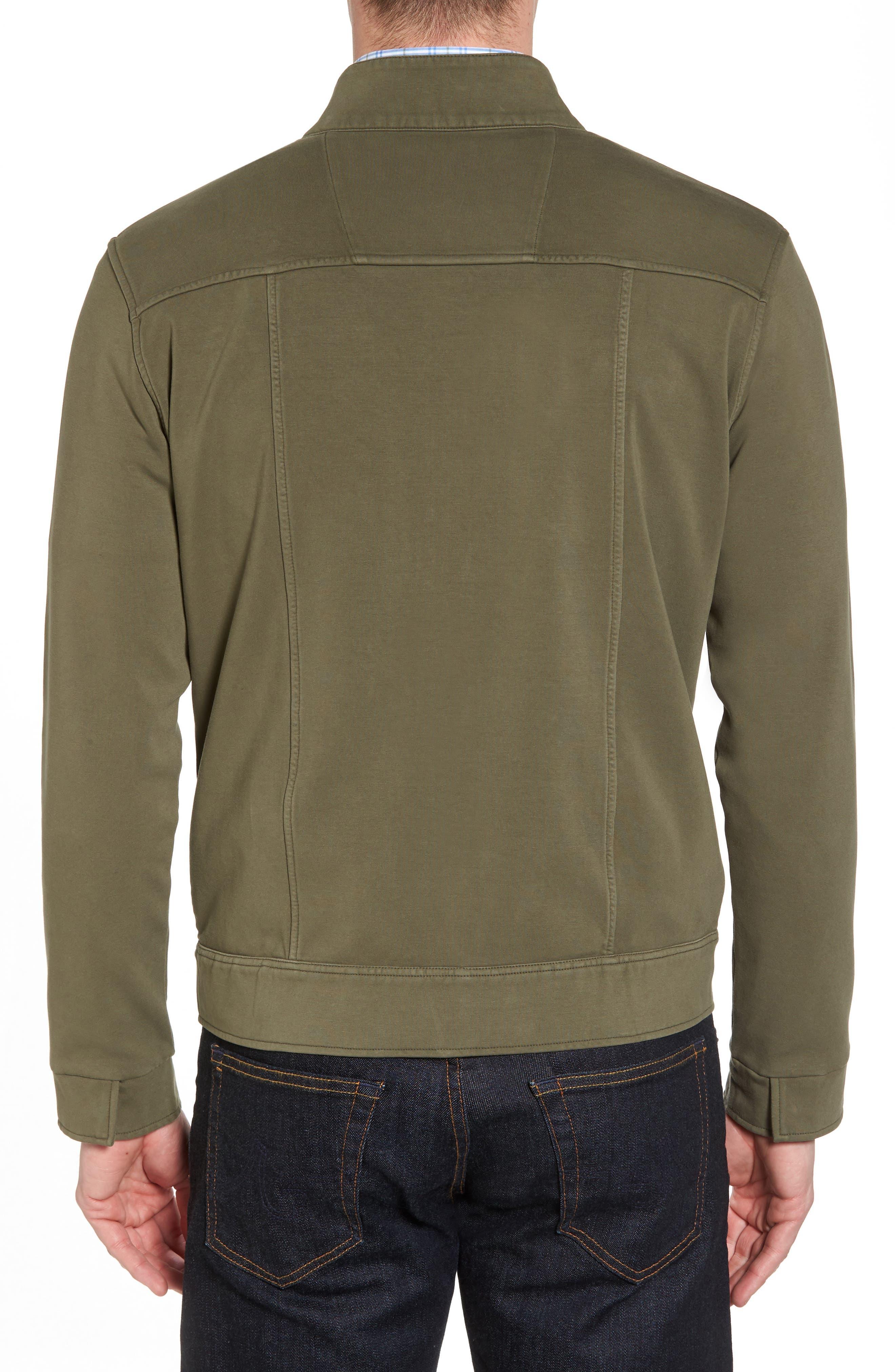 Regular Fit Safari Jersey Jacket,                             Alternate thumbnail 2, color,