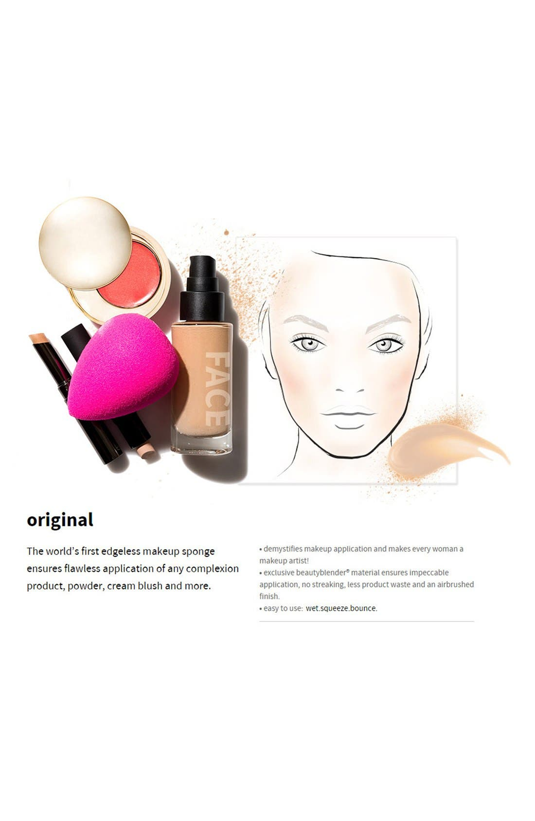 Makeup Sponge Applicator Duo & Cleanser,                             Alternate thumbnail 3, color,